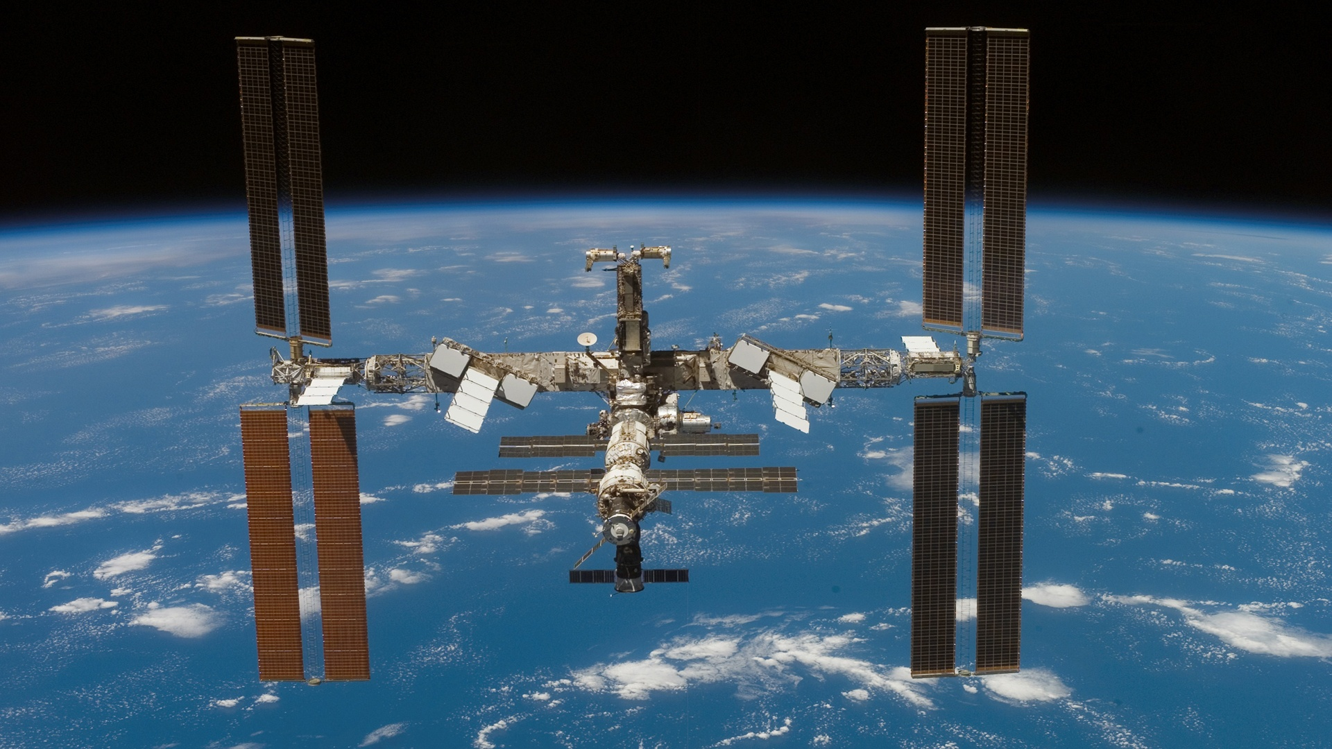 Iss Over Earth Wallpaper   Iss Space Station   15x15 ...