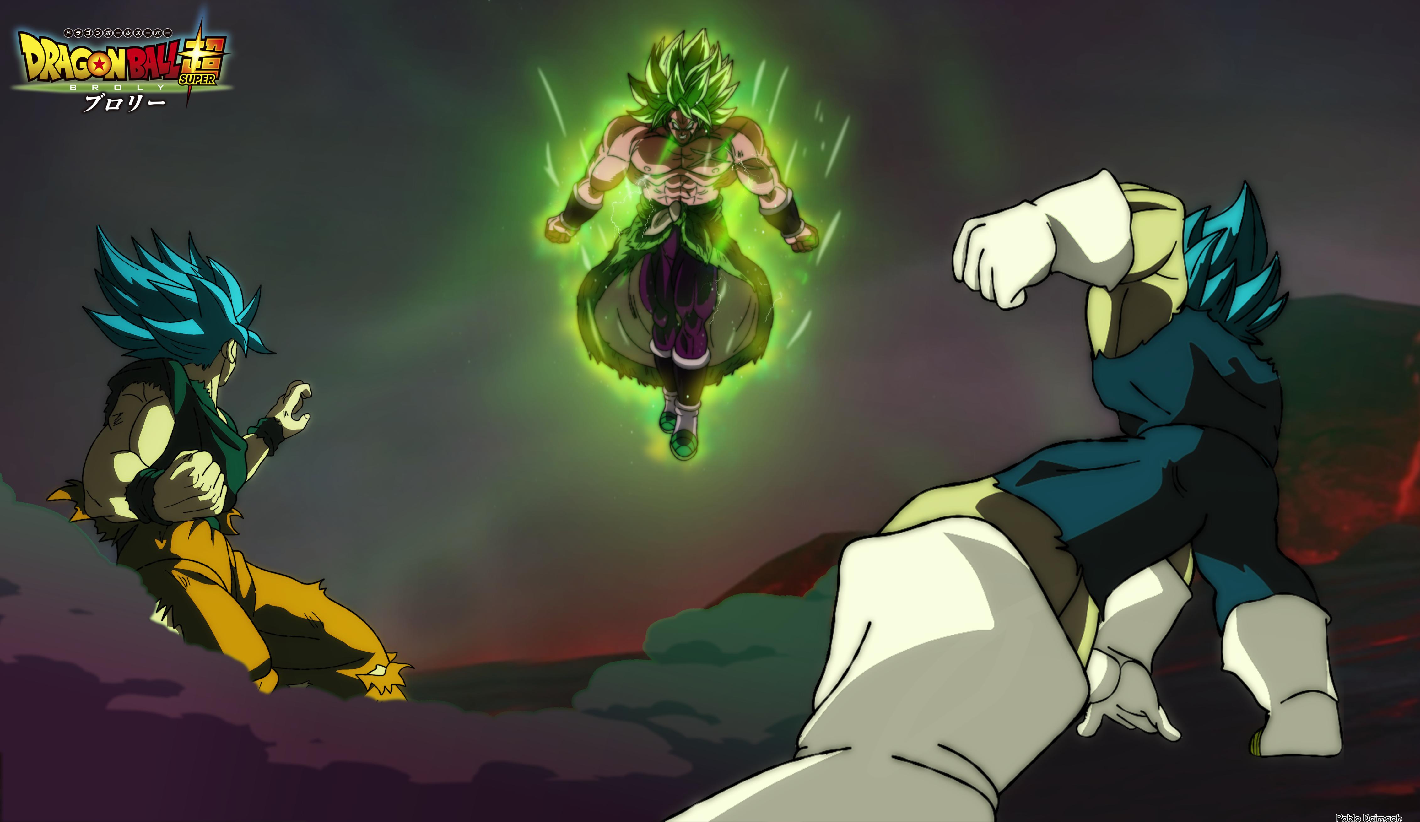 Goku And Vegeta Vs Broly 4523x2618 Download Hd Wallpaper Wallpapertip