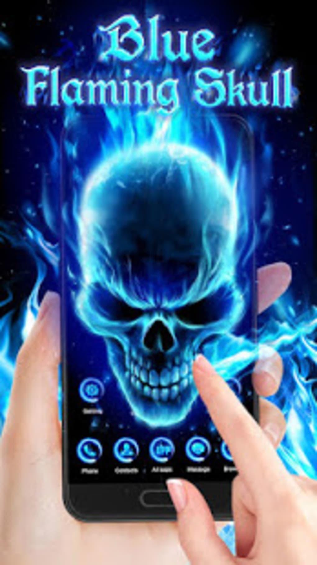 3d Blue Flaming Skull Theme Launcher Skull Theme 1020x1817 Download Hd Wallpaper Wallpapertip