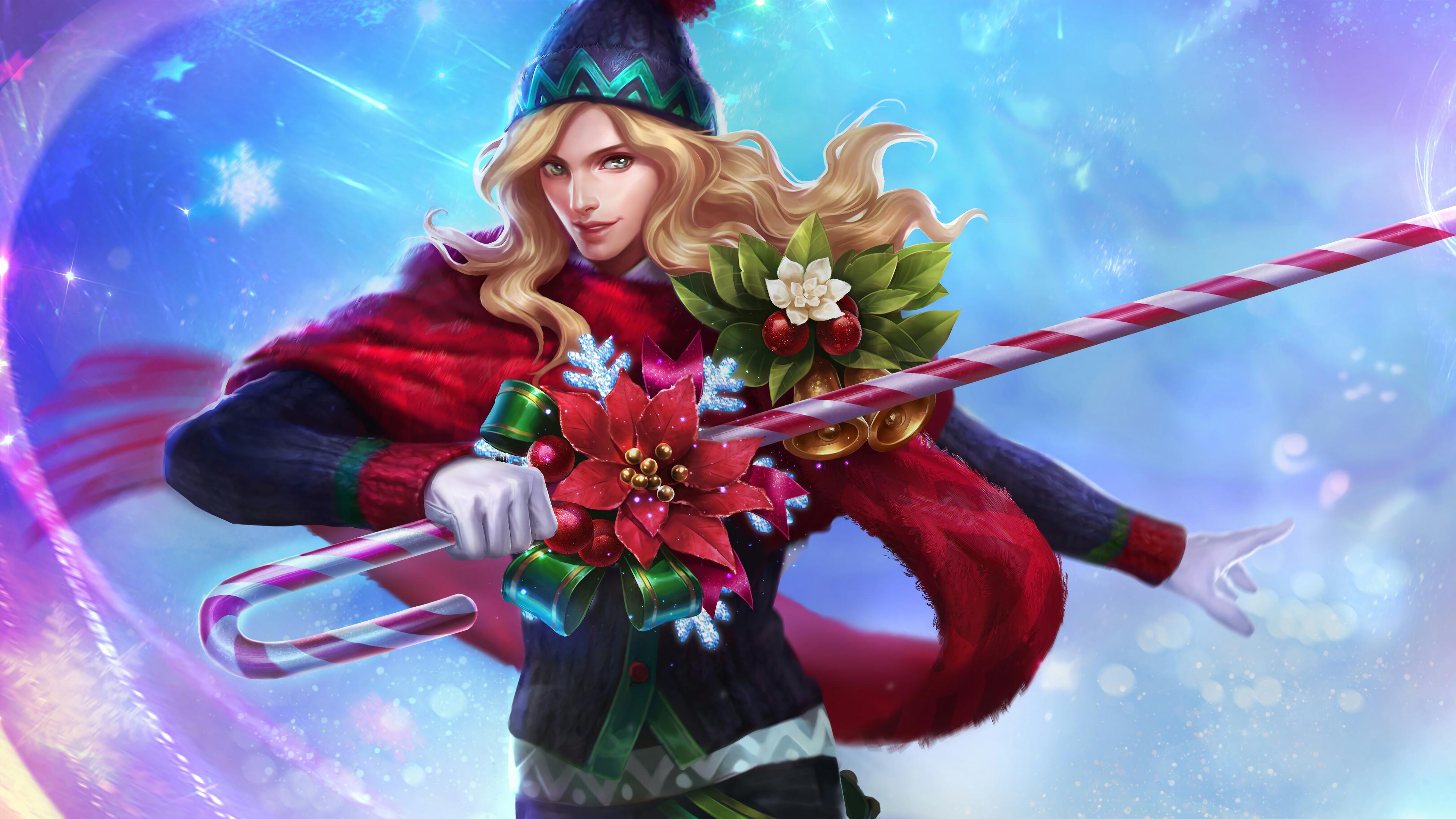 Lancelot Christmas Carnival Skin Mobile Legends Lancelot Mobile Legends Png 3840x2160 Download Hd Wallpaper Wallpapertip