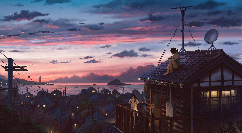 Aesthetic Anime Wallpaper Laptop 2627x1447 Download Hd Wallpaper Wallpapertip