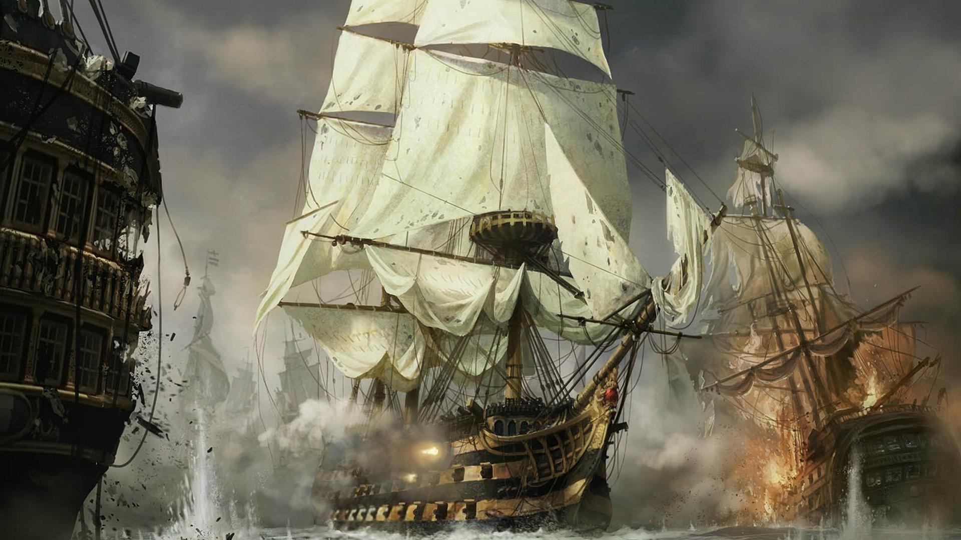 18th Century Naval Battle 1280x800 Download Hd Wallpaper Wallpapertip