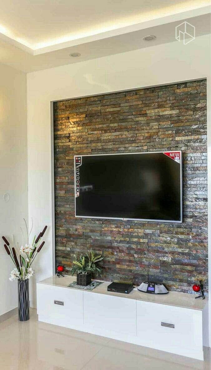 Stone Tv Wall Design Ideas 676x1185 Download Hd Wallpaper Wallpapertip