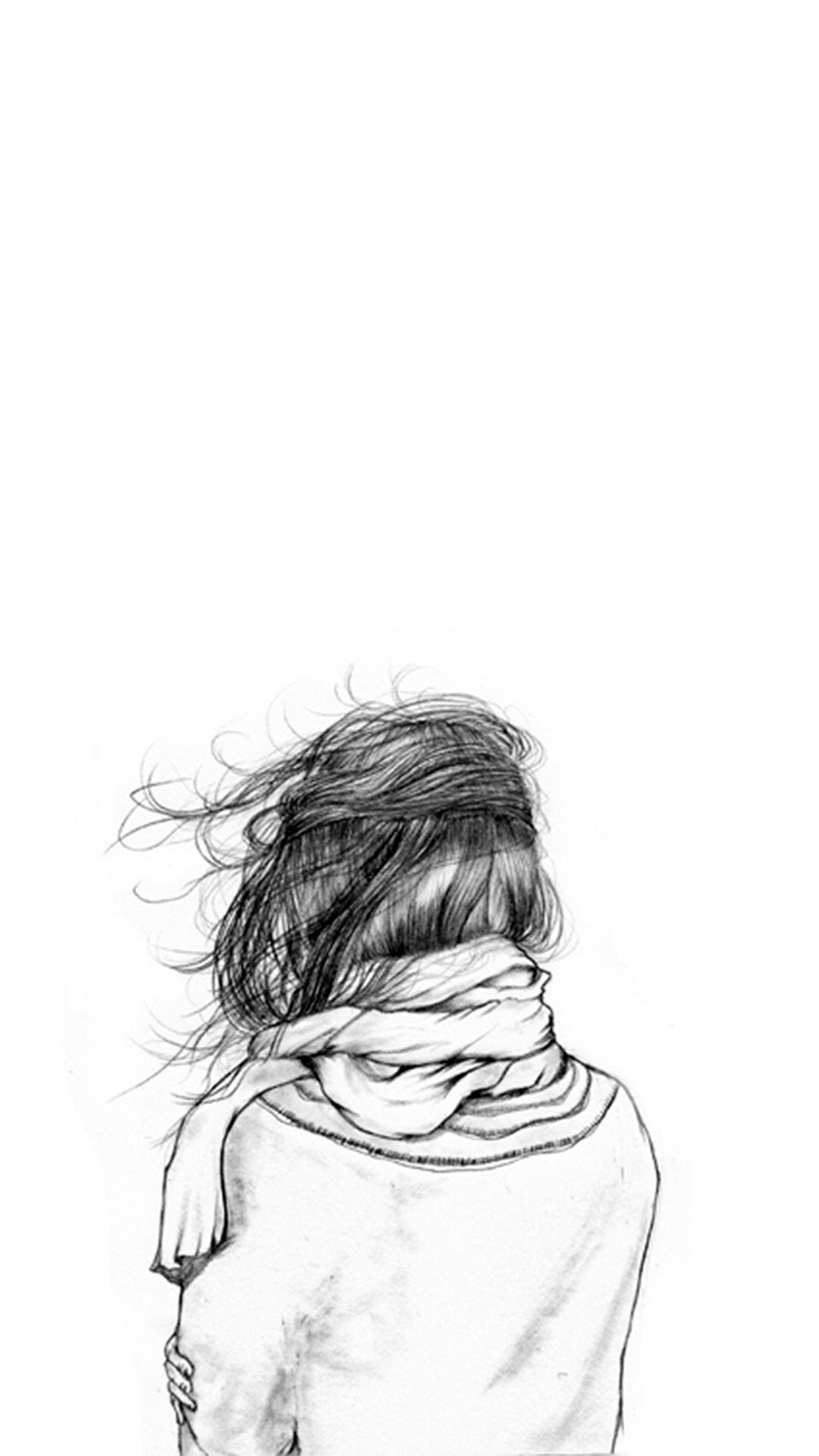 私の考えを自分に留めて 女の子iphone壁紙tumblr 225x400 Wallpapertip