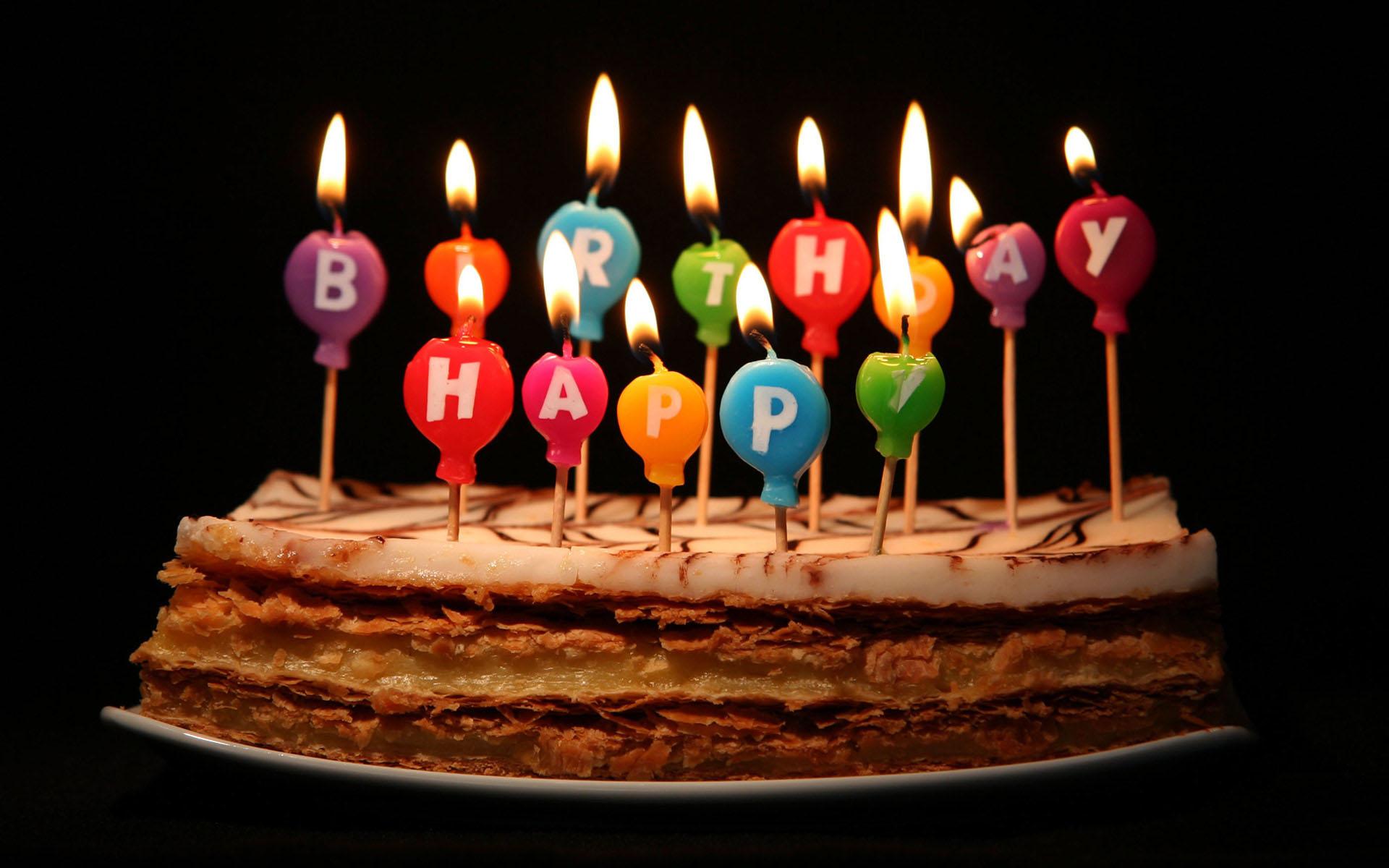 Download Free Happy Birthday Wishes Hd Pictures Happy Birthday Cakes With Candles 1920x1200 Download Hd Wallpaper Wallpapertip