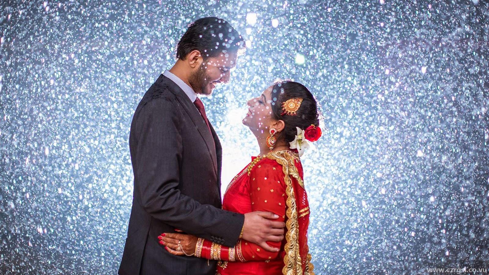 Newly Married Punjabi Couple Hd Wallpaper Wedding Couple Images Hd 1600x900 Download Hd Wallpaper Wallpapertip