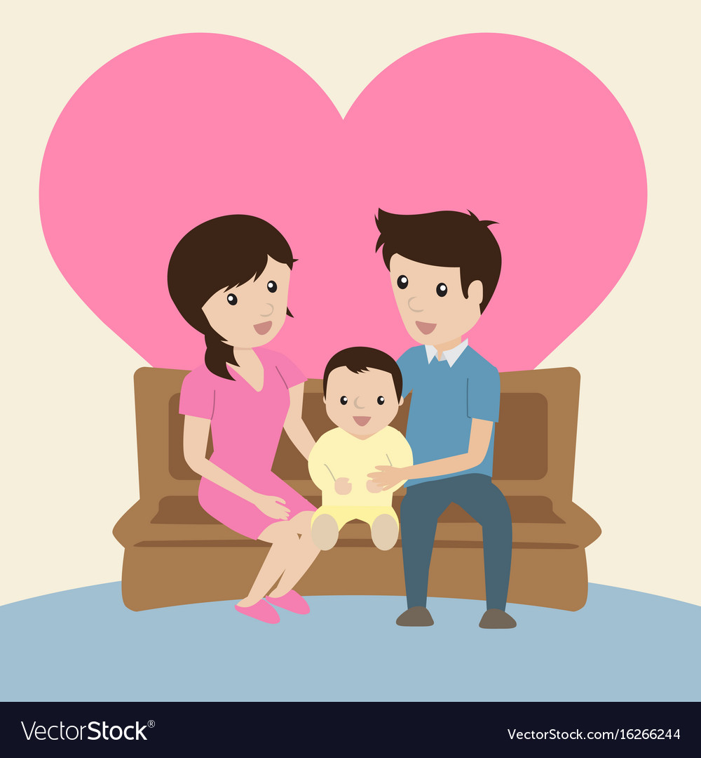 I Love My Family Vector Image Love Family Pictures Cartoon 1000x1080 Download Hd Wallpaper Wallpapertip