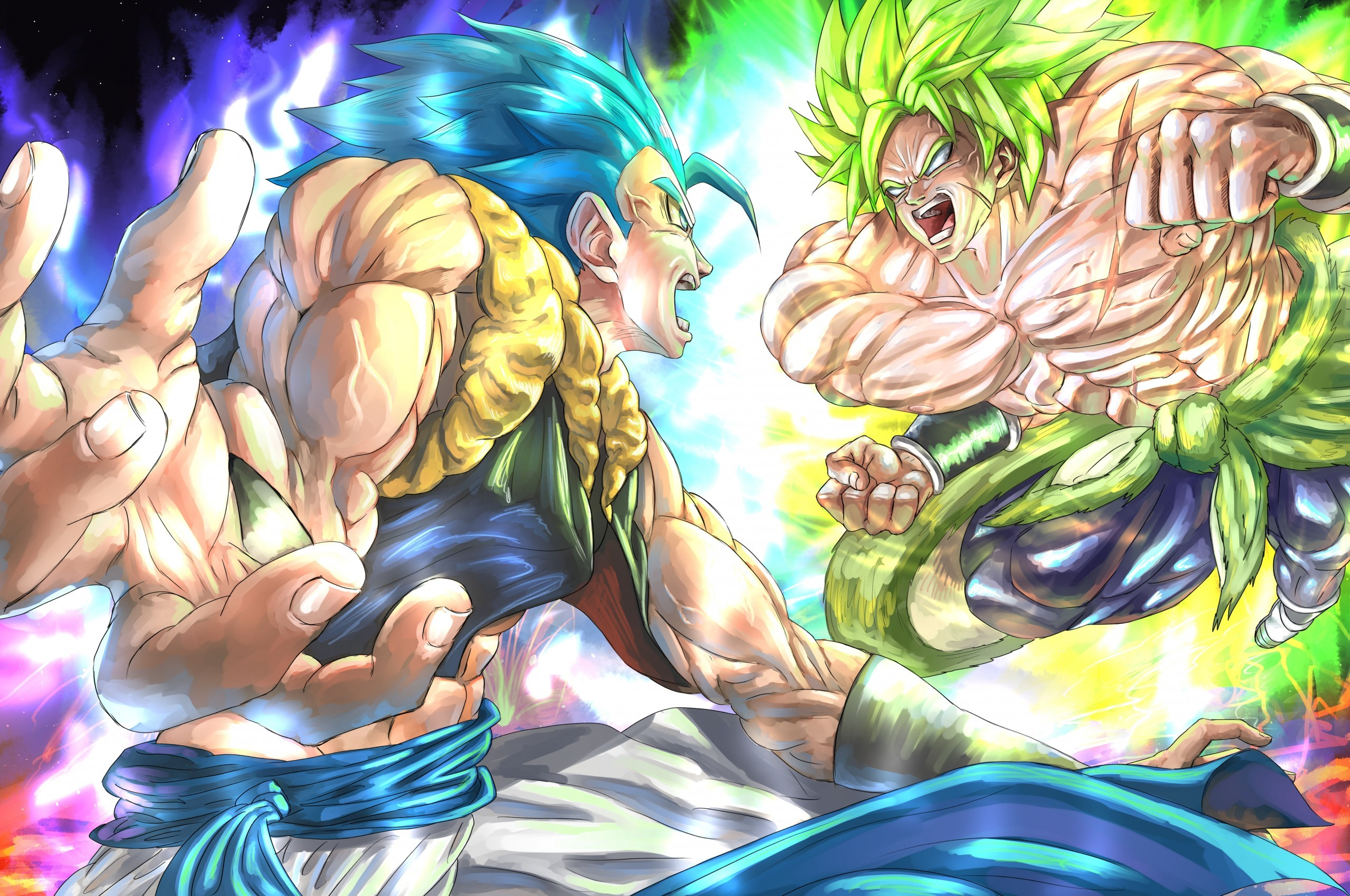 Goku Vs Broly Dragon Ball Super Dragon Ball Super Broly Laptop 2560x1700 Download Hd Wallpaper Wallpapertip