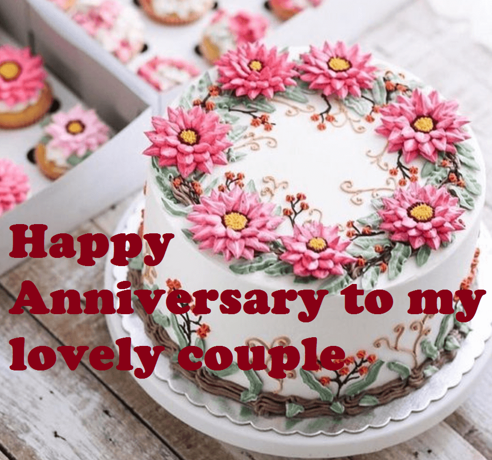Marriage Anniversary Cake Images Download Lovely Couple Happy Anniversary Cake 961x899 Download Hd Wallpaper Wallpapertip