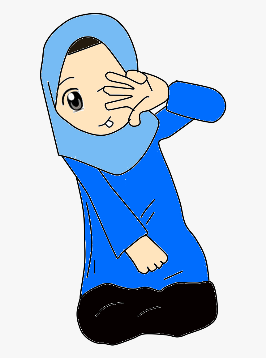 Yanishihye Doodles Gambar Kartun Muslimah Warna Biru Animasi Kartun Warna Biru 860x1158 Download Hd Wallpaper Wallpapertip