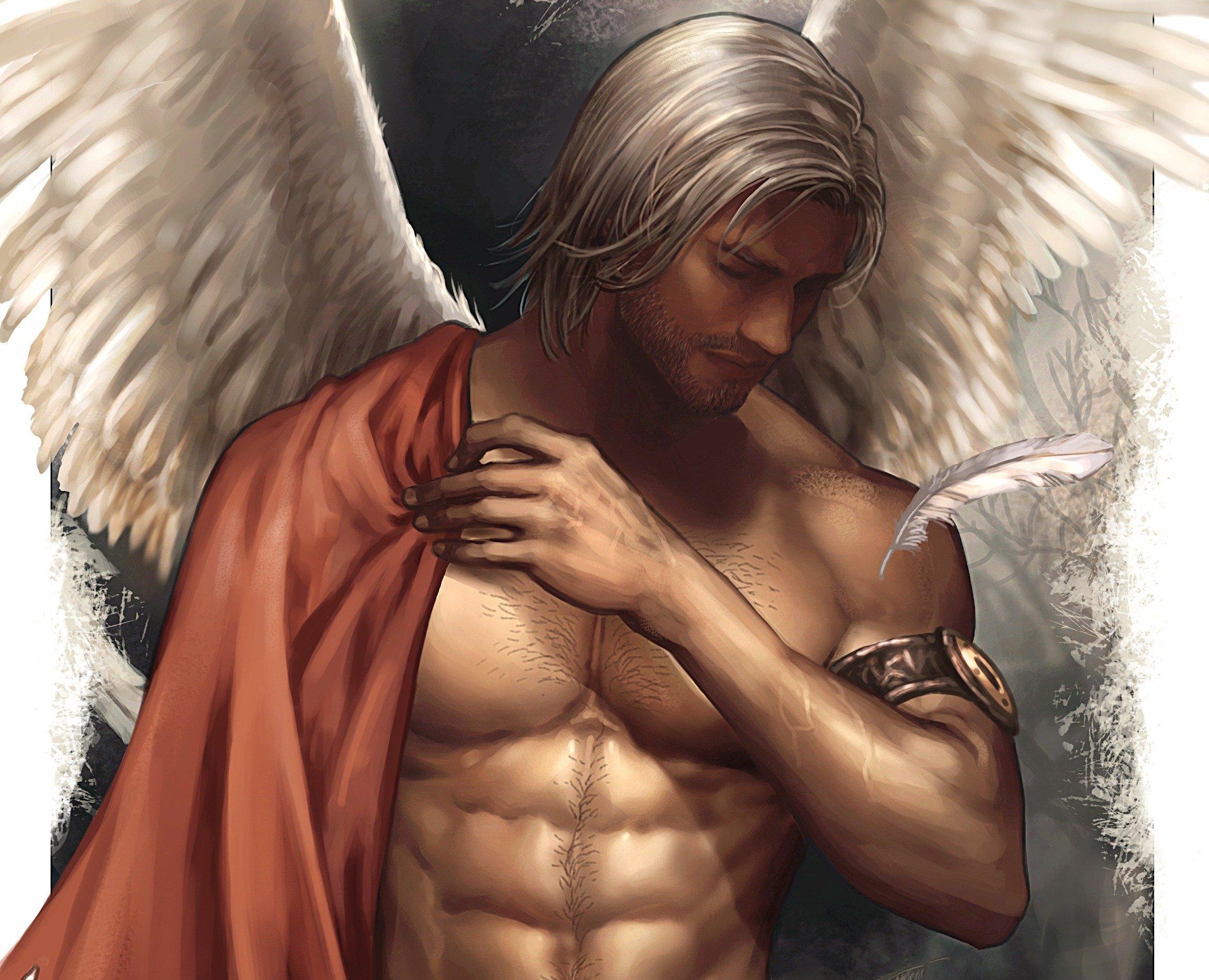 Fantasy Male Angel Wings Character Beautiful Wallpaper Beautiful Fantasy Male Angel 2295x1860 Download Hd Wallpaper Wallpapertip