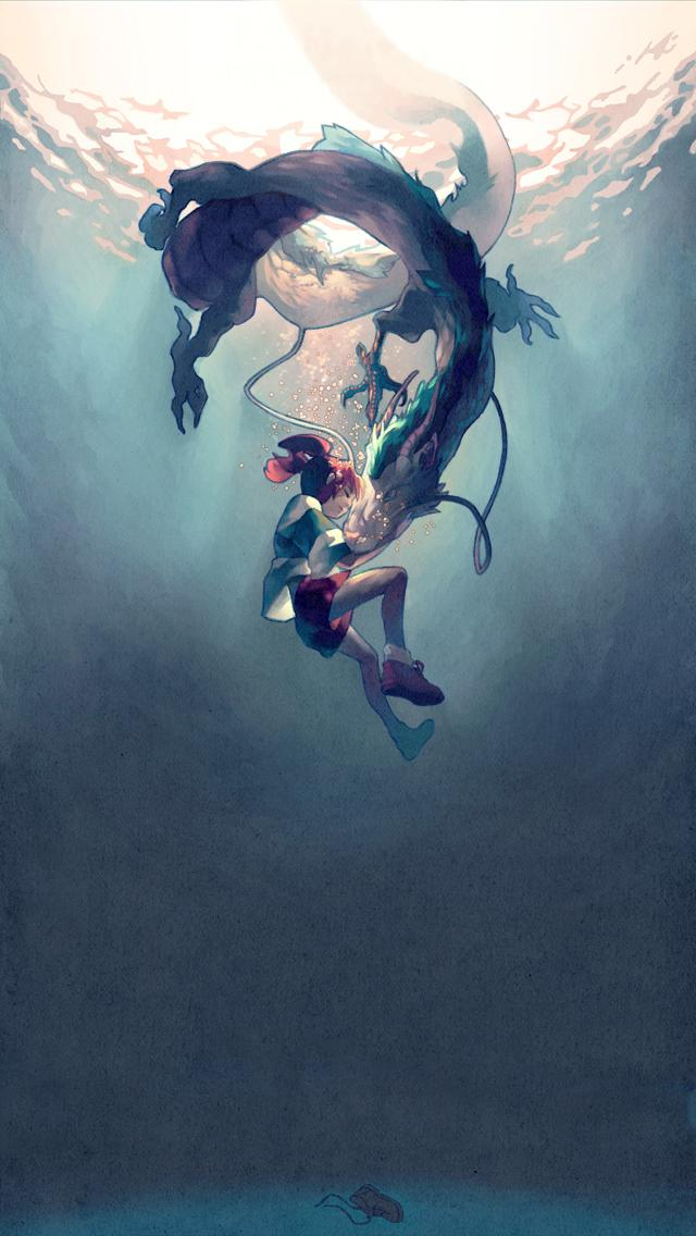 Ze9sc9t Studio Ghibli Phone Wallpaper Px Haku Spirited Away 640x1136 Download Hd Wallpaper Wallpapertip