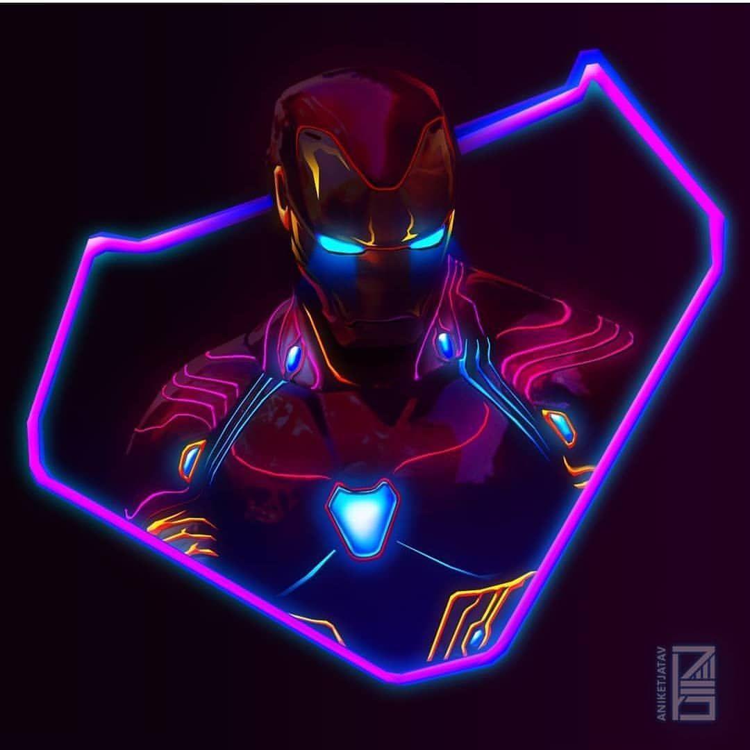 Avengers Neon Wallpaper 4k - 1080x1080 ...