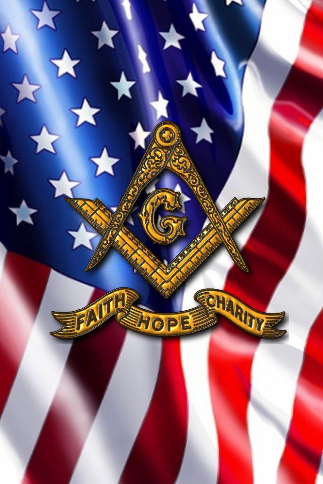 Mason Symbol And Usa Flag - 665x997 - Download HD Wallpaper - WallpaperTip