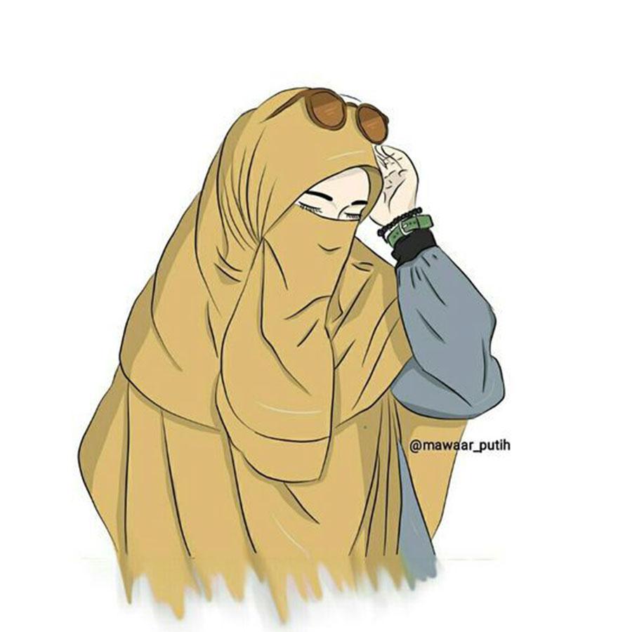 Wanita Muslimah Kartun Bercadar 900x900 Download Hd Wallpaper Wallpapertip