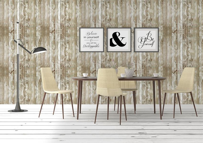 Peel And Stick Foam Wood Paneling Cream 20 Pack 3d Dining Room 850x600 Download Hd Wallpaper Wallpapertip