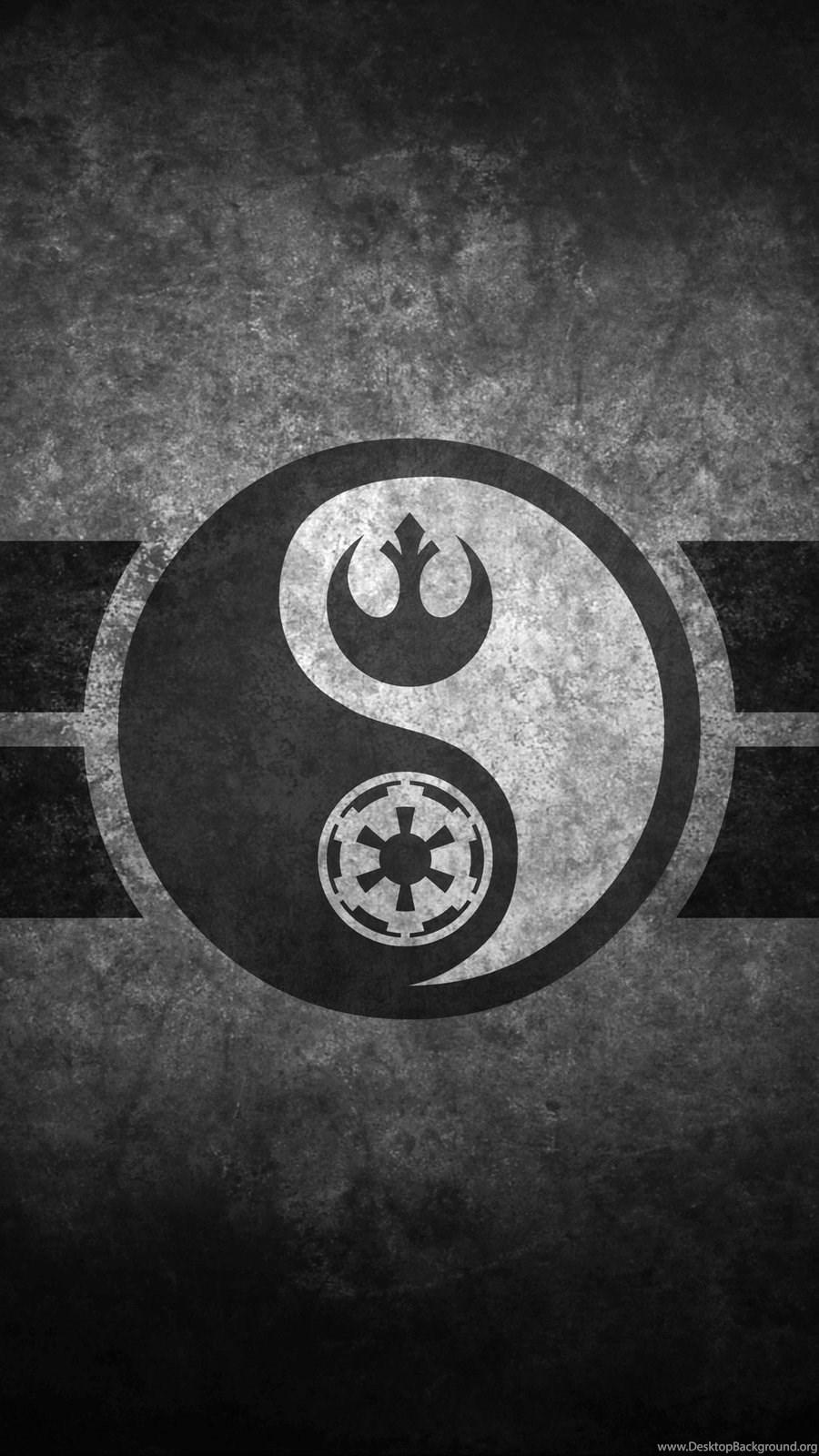 Yin Yang Iphone 4 Wallpapers Jedi Symbol 900x1600 Download Hd Wallpaper Wallpapertip