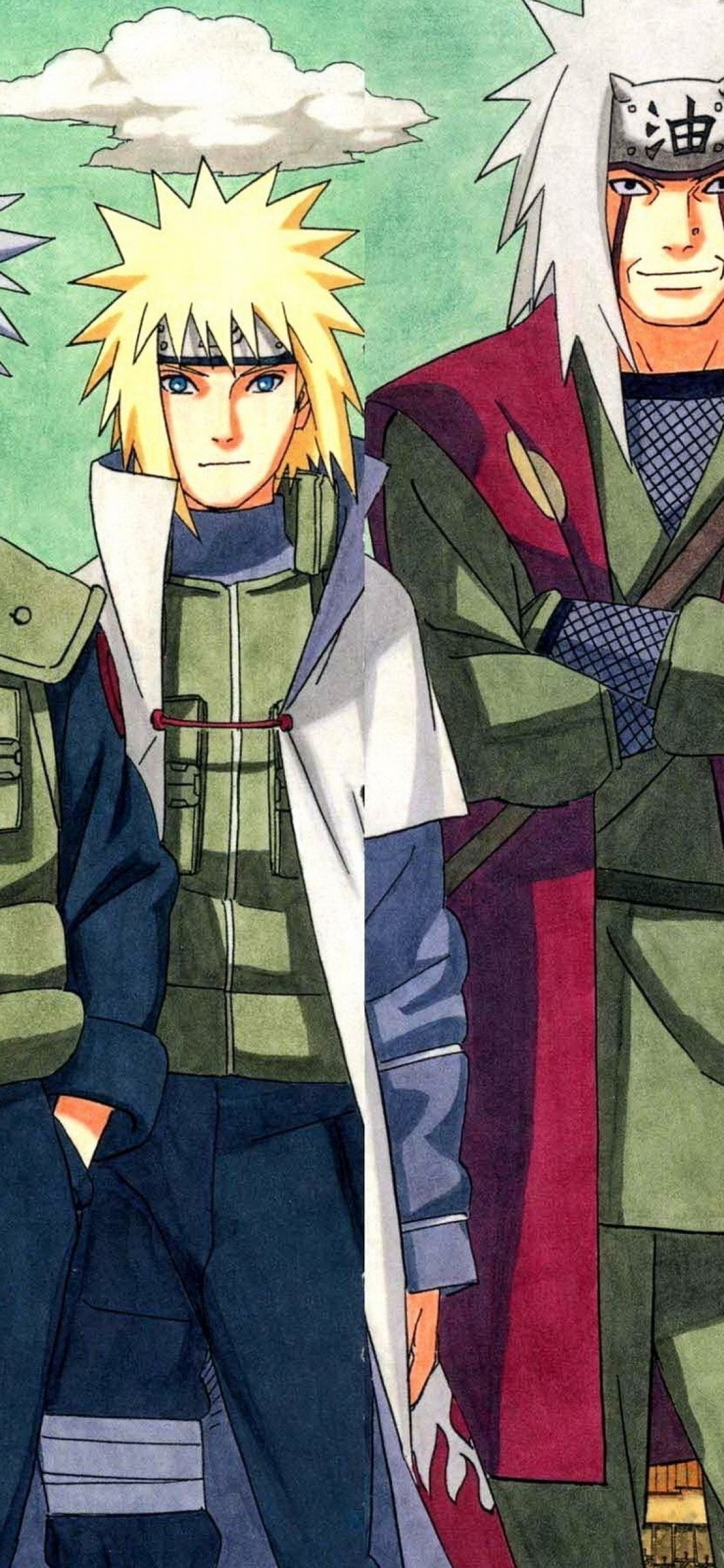 Naruto Kakashi Jiraiya Minato Sandaime Naruto Sensei And Student 1125x2436 Download Hd Wallpaper Wallpapertip
