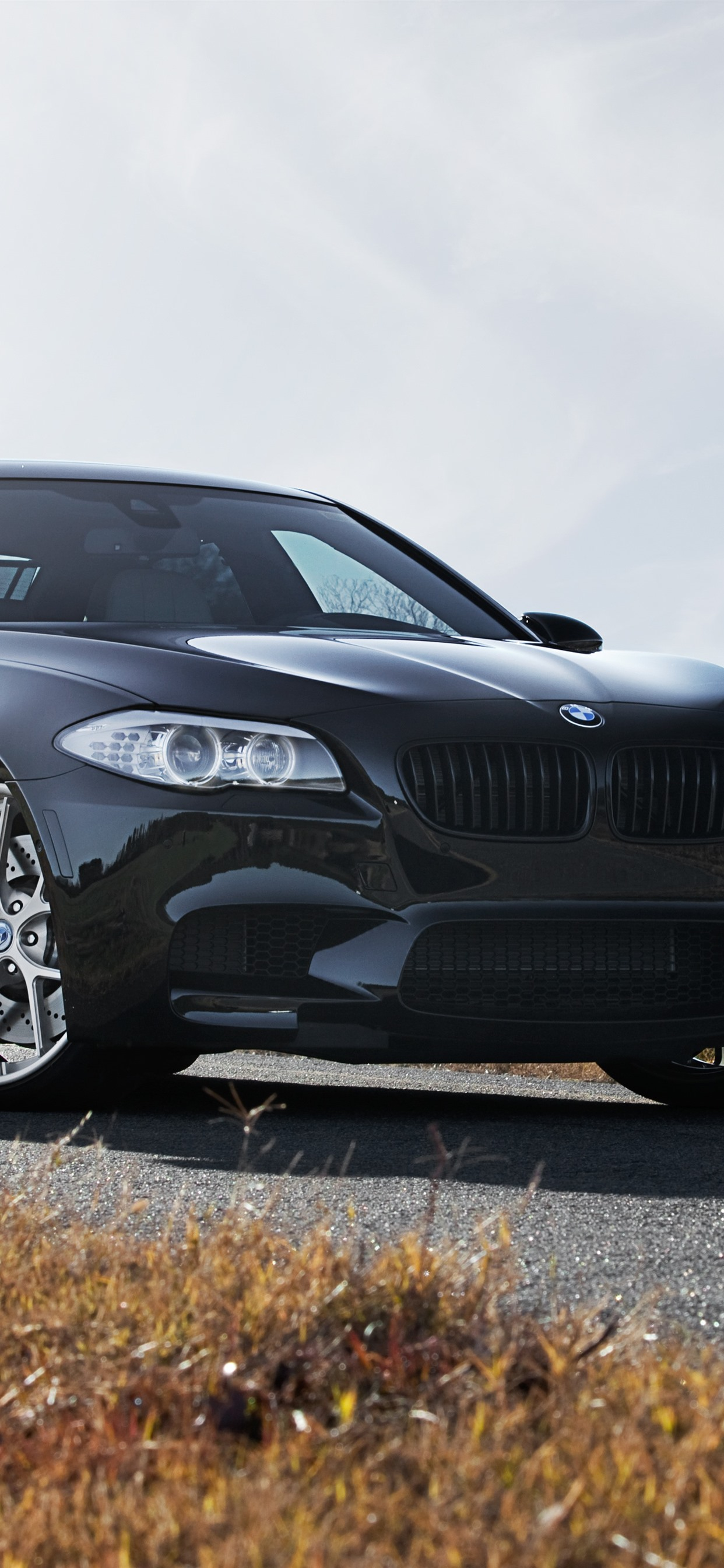 Iphone Wallpaper Bmw F10 M5 Black Car Front View Bmw M5 Ultra Hd 1242x2688 Download Hd Wallpaper Wallpapertip