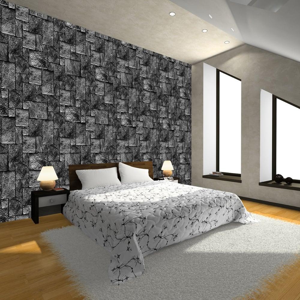 Brick Effect Wallpaper Bedroom - 12x12 - Download HD Wallpaper