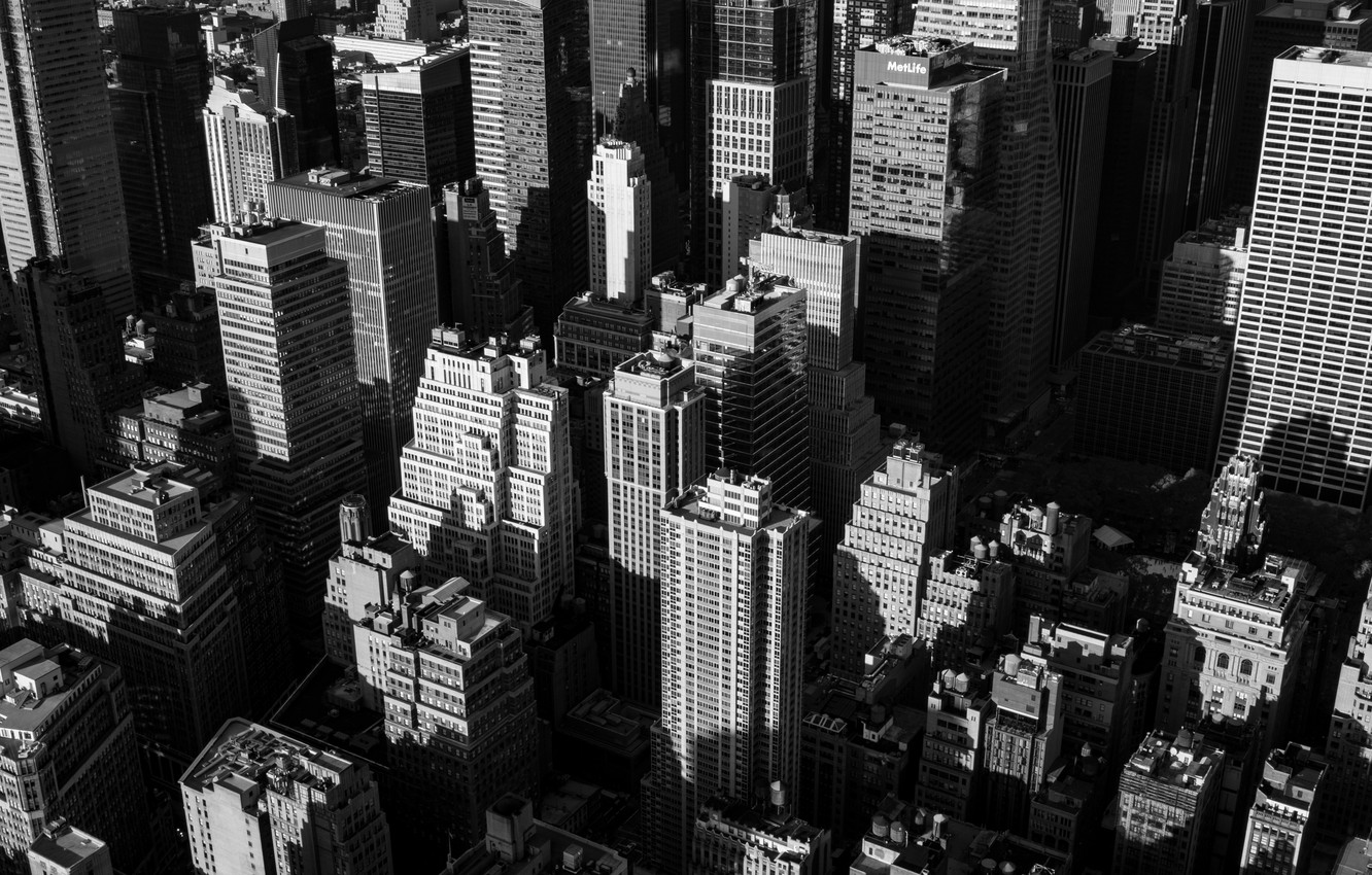 Photo Wallpaper Windows Usa United States New York Grayscale Aesthetic City 1332x850 Download Hd Wallpaper Wallpapertip