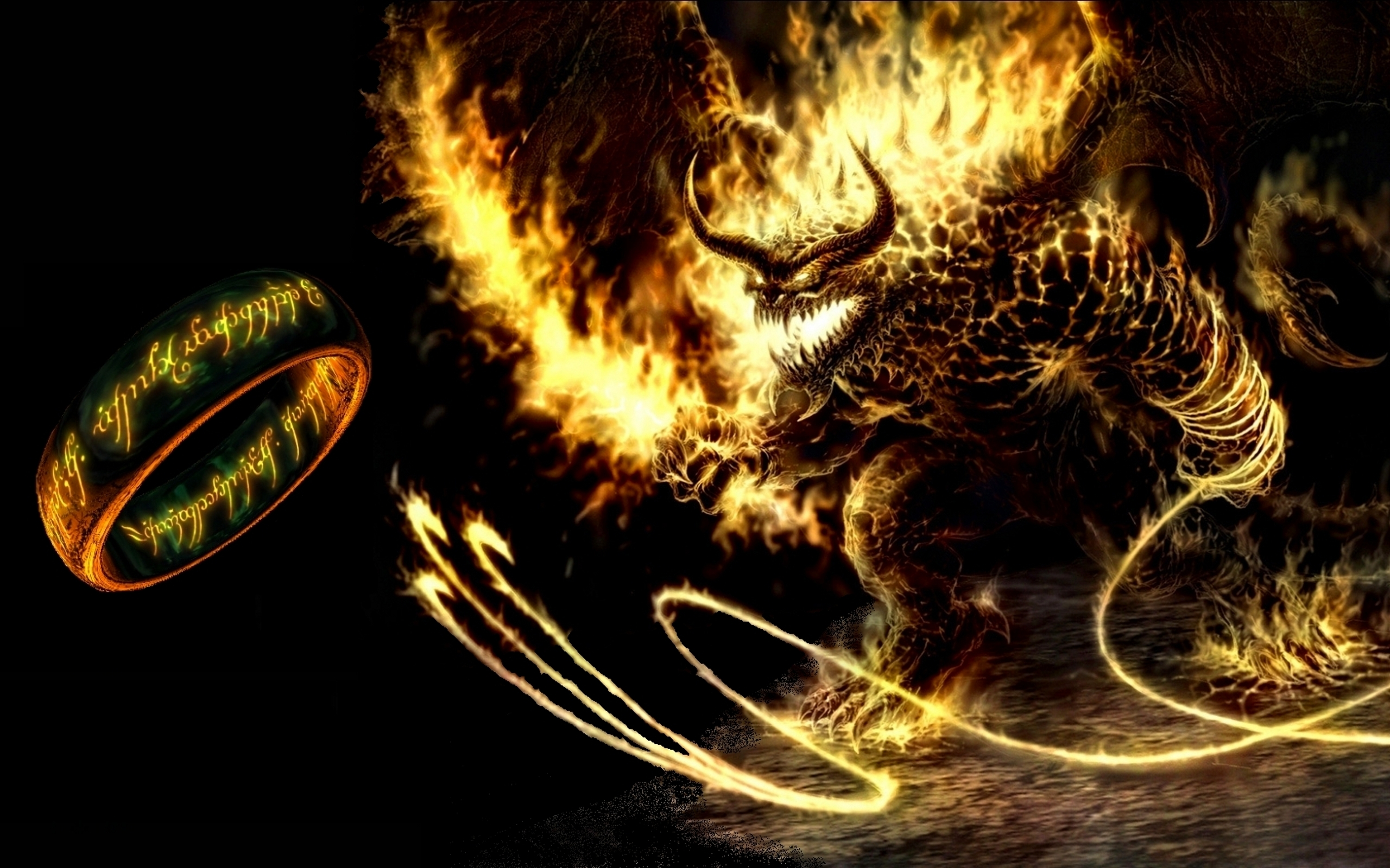 Balrog Flaming Dragon 2560x1600 Download Hd Wallpaper Wallpapertip
