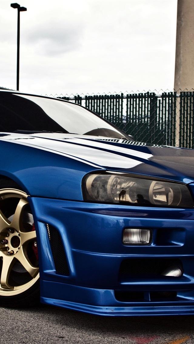 壁紙 日産スカイラインgtr R34青い車の側面図 Hd 無料の Gtr R34 Wallpaper Iphone 640x1136 Download Hd Wallpaper Wallpapertip