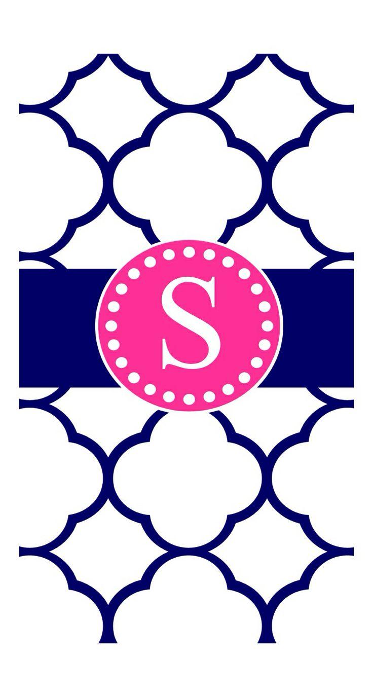 Navy Blue And Pink S Monogram Cute Phone Wallpaper B Monogram Background 736x1375 Download Hd Wallpaper Wallpapertip
