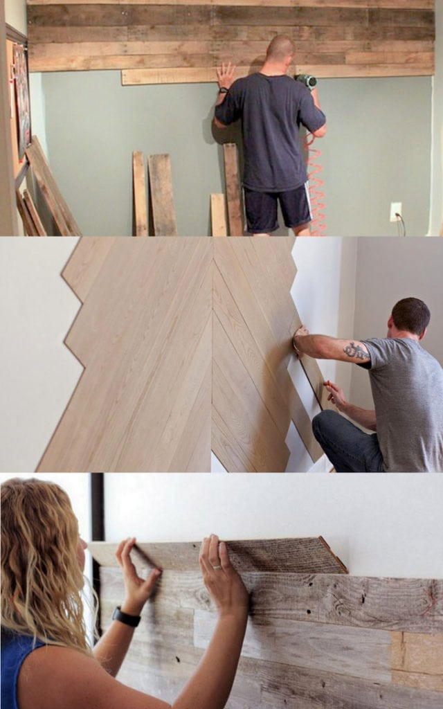 Best Diy Pallet Wall Tutorials Designer Tips On How Wall Panel Ideas 640x1024 Download Hd Wallpaper Wallpapertip