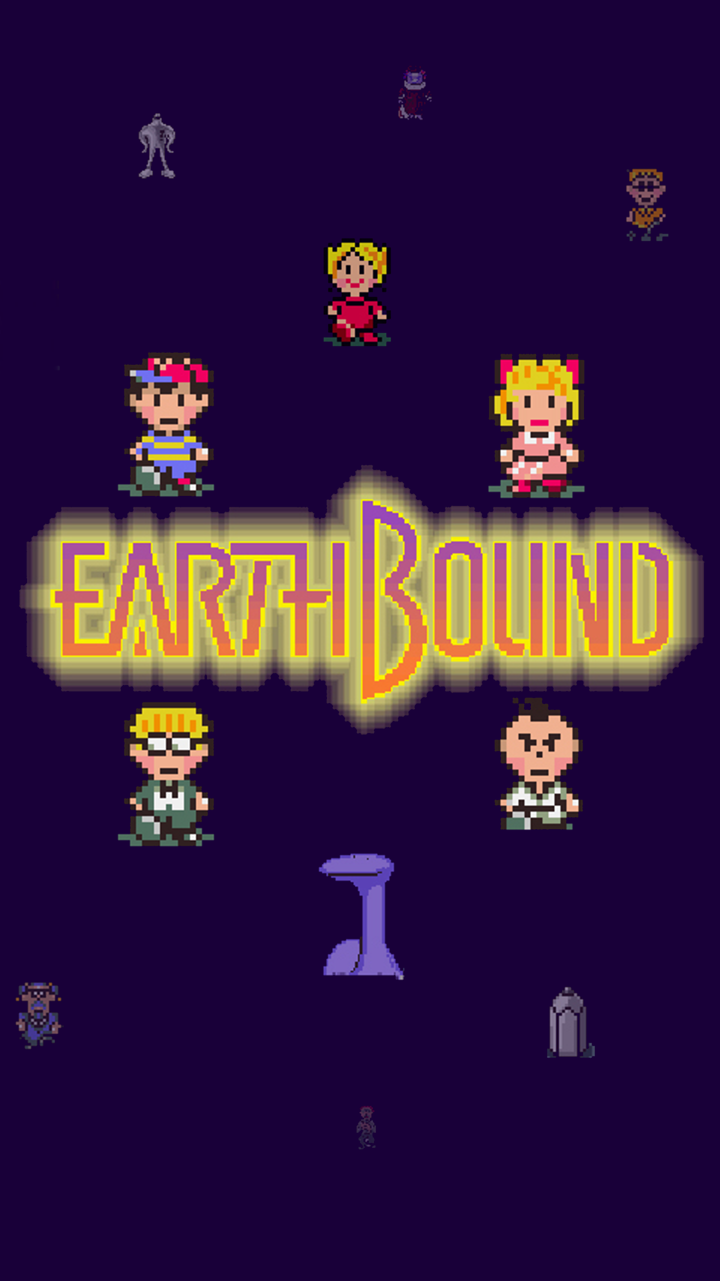 Earthbound Iphone Wallpaper Earthbound Title 1440x2560 Download Hd Wallpaper Wallpapertip