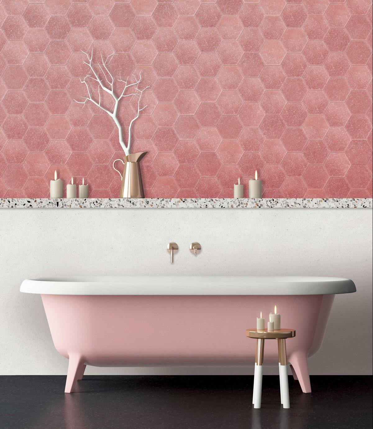 Pink Bathroom Tiles 1201x1381 Download Hd Wallpaper Wallpapertip