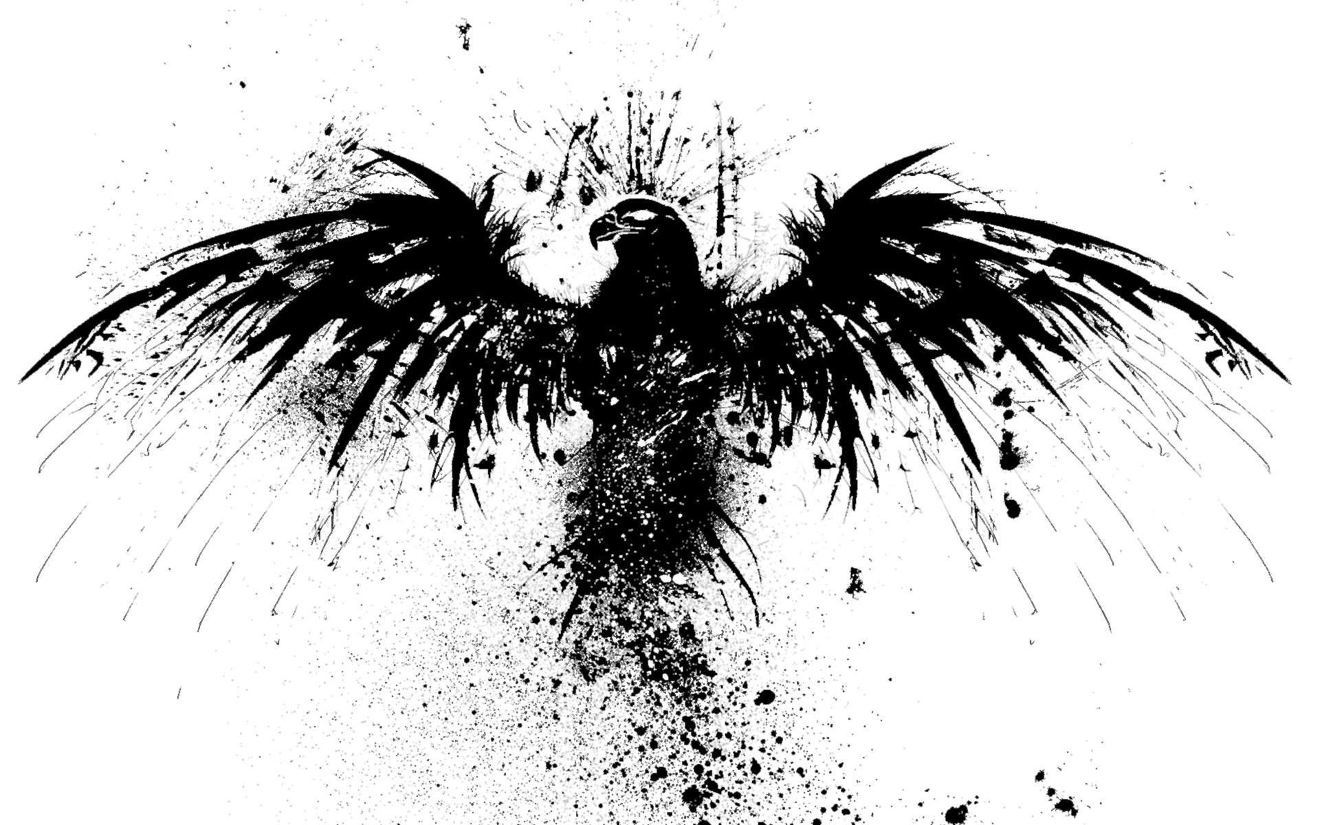 Black Eagle Tattoo 1920x1200 Download Hd Wallpaper Wallpapertip Eagle tattoo wallpaper free download