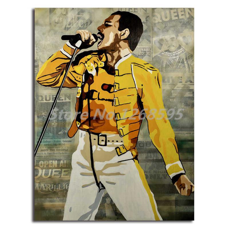 Freddie Mercury Poster Queen Band Wallpaper Wall Art Art Freddie Mercury Poster 800x800 Download Hd Wallpaper Wallpapertip