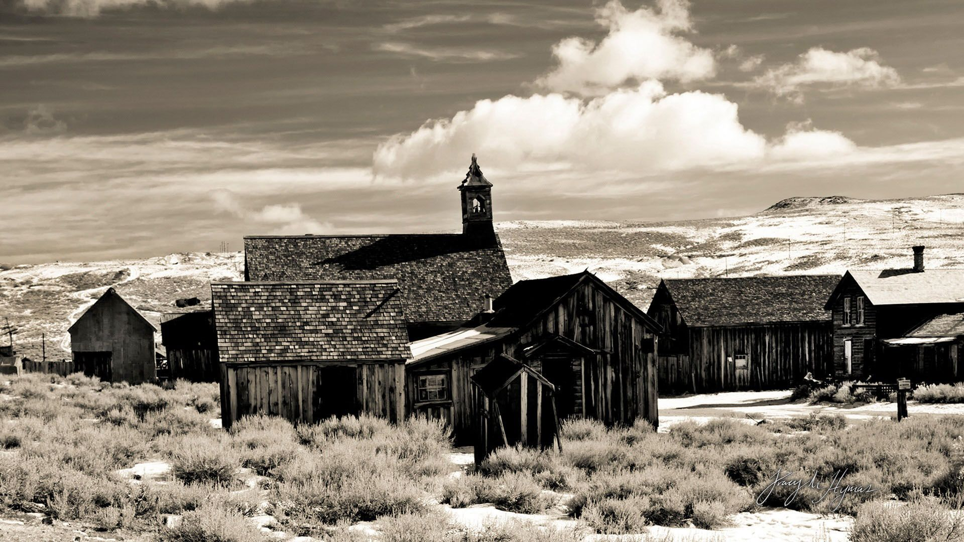 Ghost Town Wallpaper Ghost Town Desert Black And White 1920x1080 Download Hd Wallpaper Wallpapertip