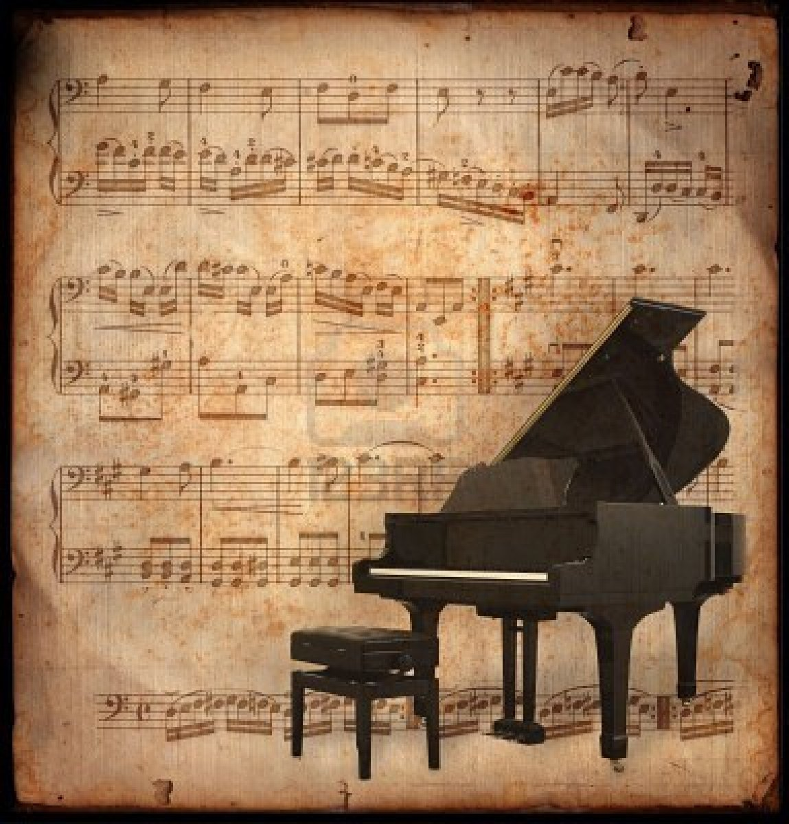 Piano Wallpapers For Widescreen Desktop Pc Full Hd Vintage Music Note Background Free 1149x1200 Download Hd Wallpaper Wallpapertip