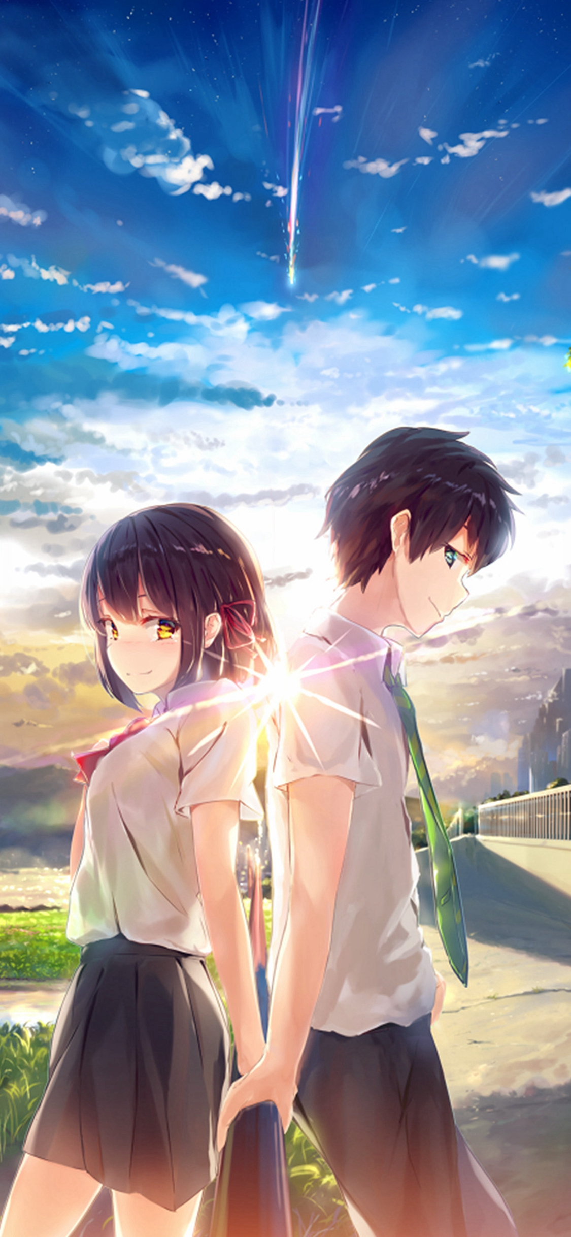 Cute Anime Couple Wallpaper For Iphone 1125x2436 Download Hd Wallpaper Wallpapertip