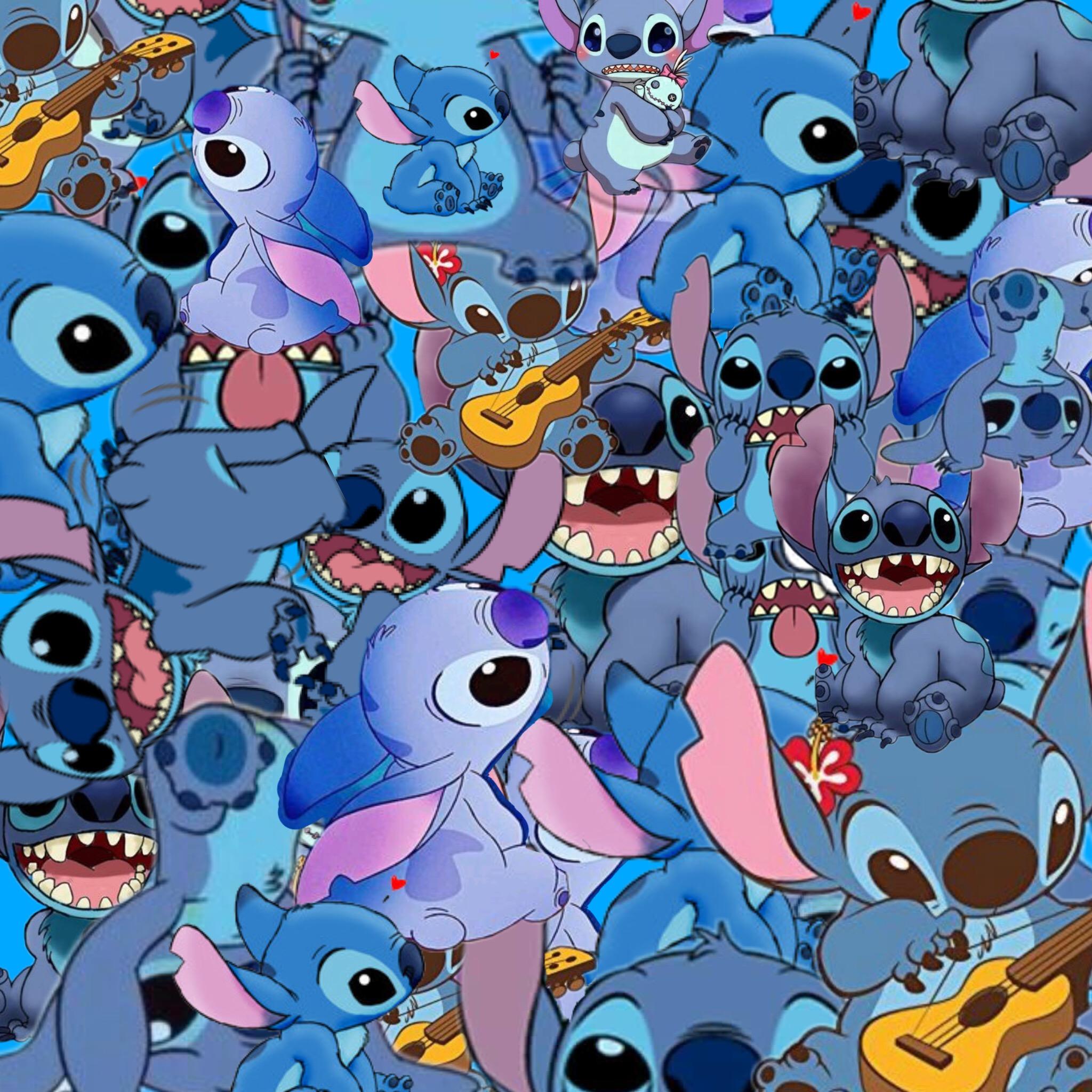 Freetoedit Wallpaper Stitch Blue Art Interesting Stitch Halloween 2048x2048 Download Hd Wallpaper Wallpapertip