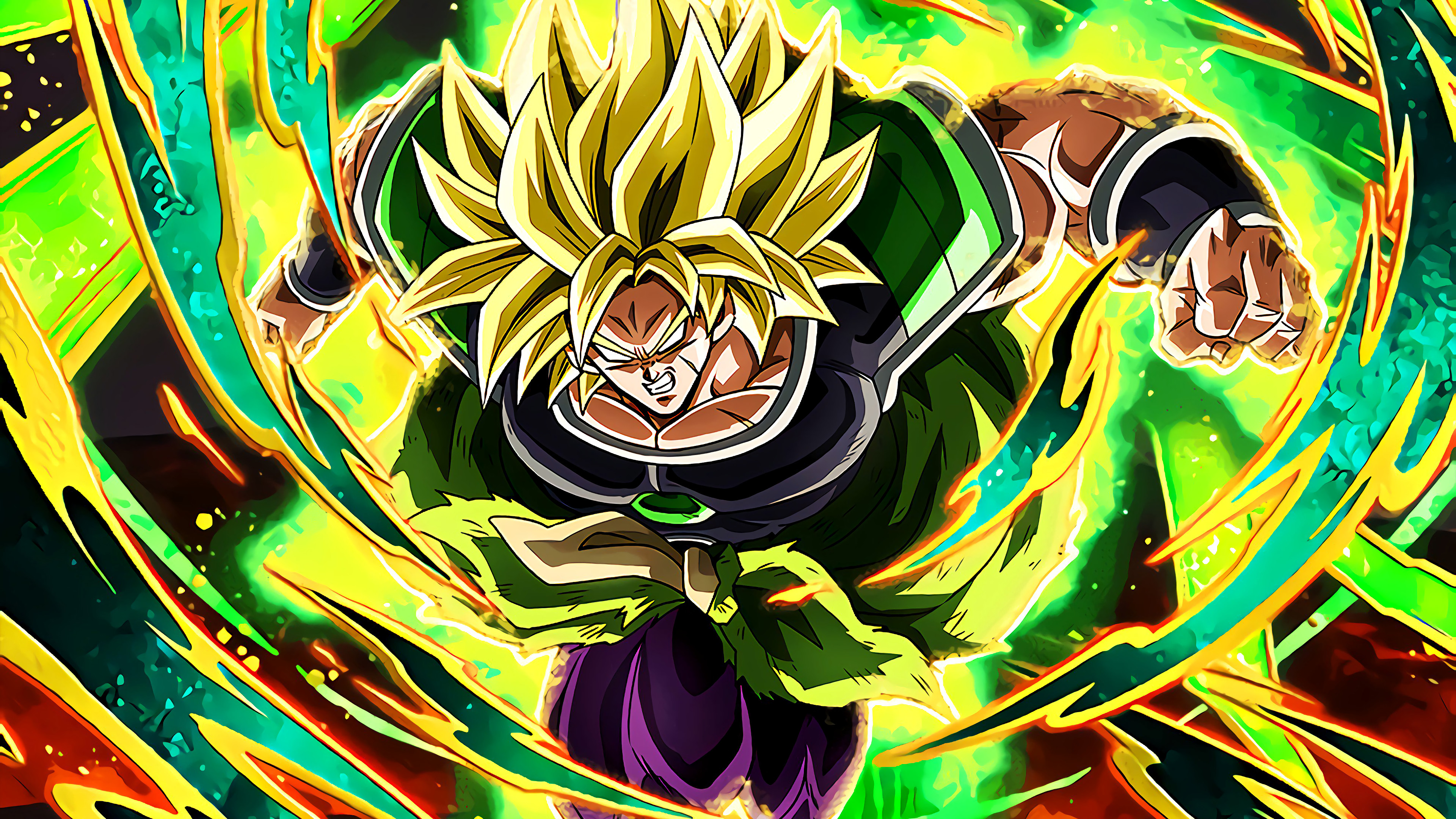 Broly Super Saiyan Dragon Ball Super 3840x2160 Download Hd Wallpaper Wallpapertip