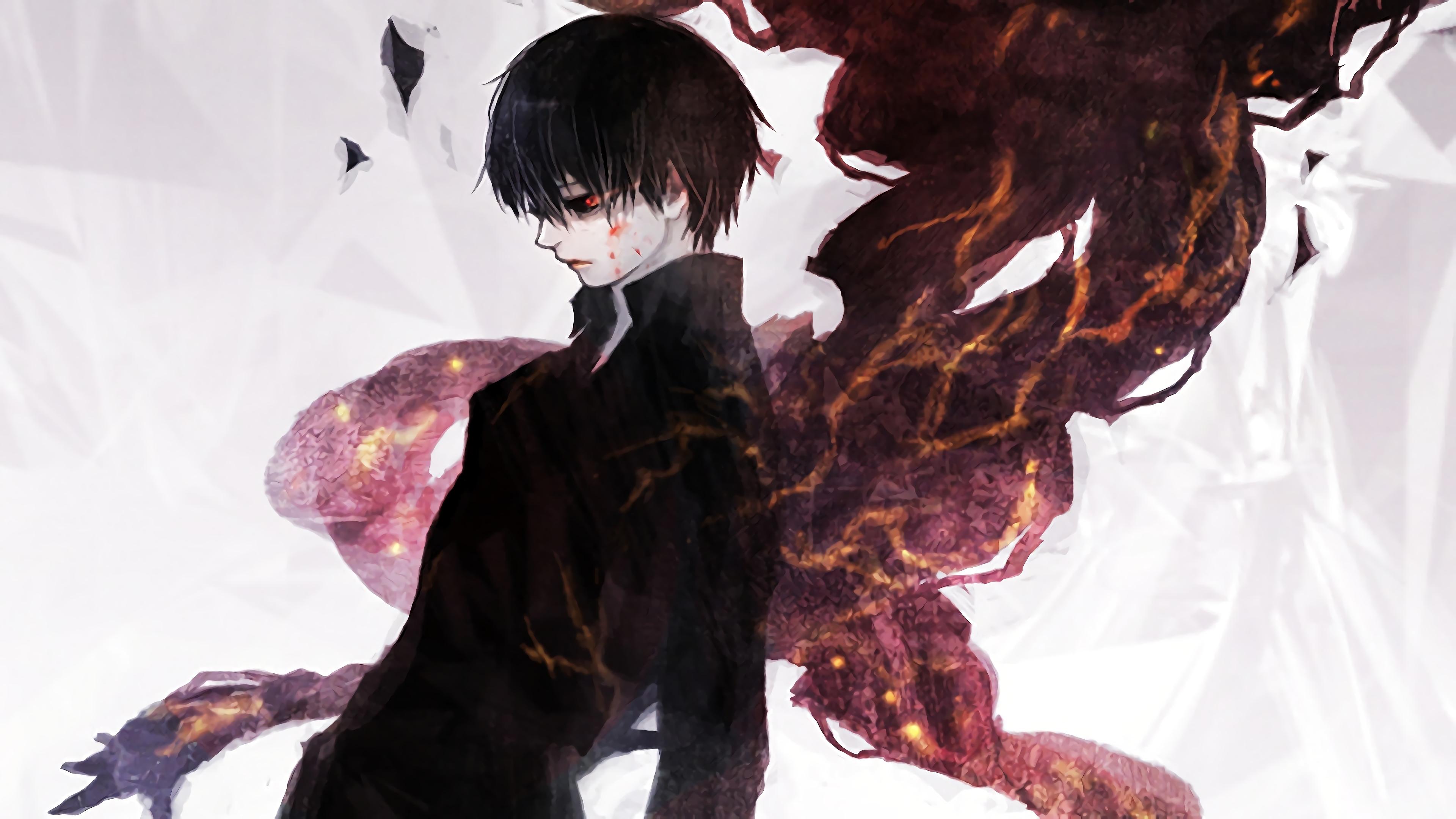Black Reaper Kaneki Tokyo Ghoul Re Invoke Transparent 3840x2160 Download Hd Wallpaper Wallpapertip