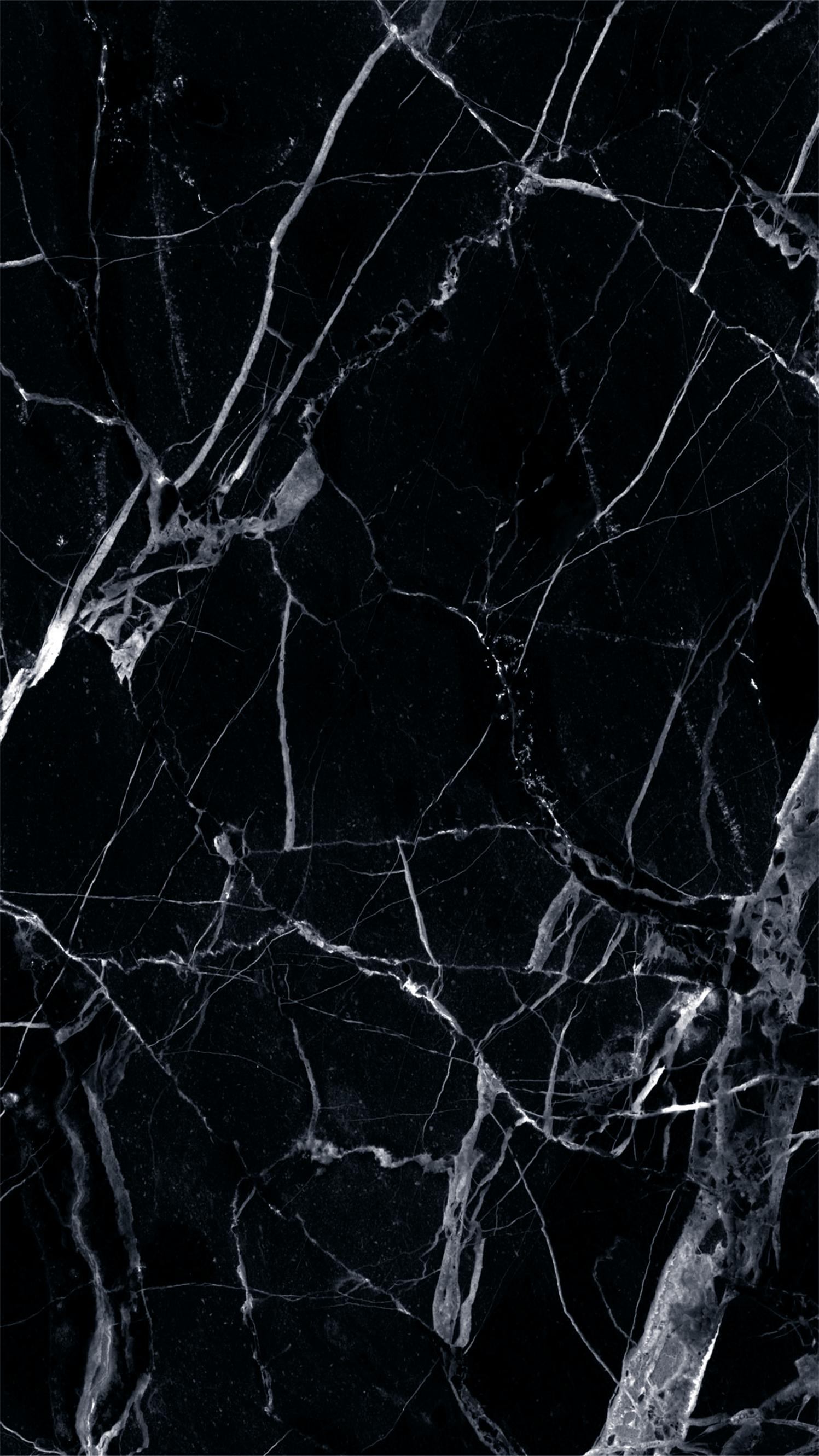 黒大理石の壁紙のhd ひびの入った画面の壁紙 1497x2662 Wallpapertip