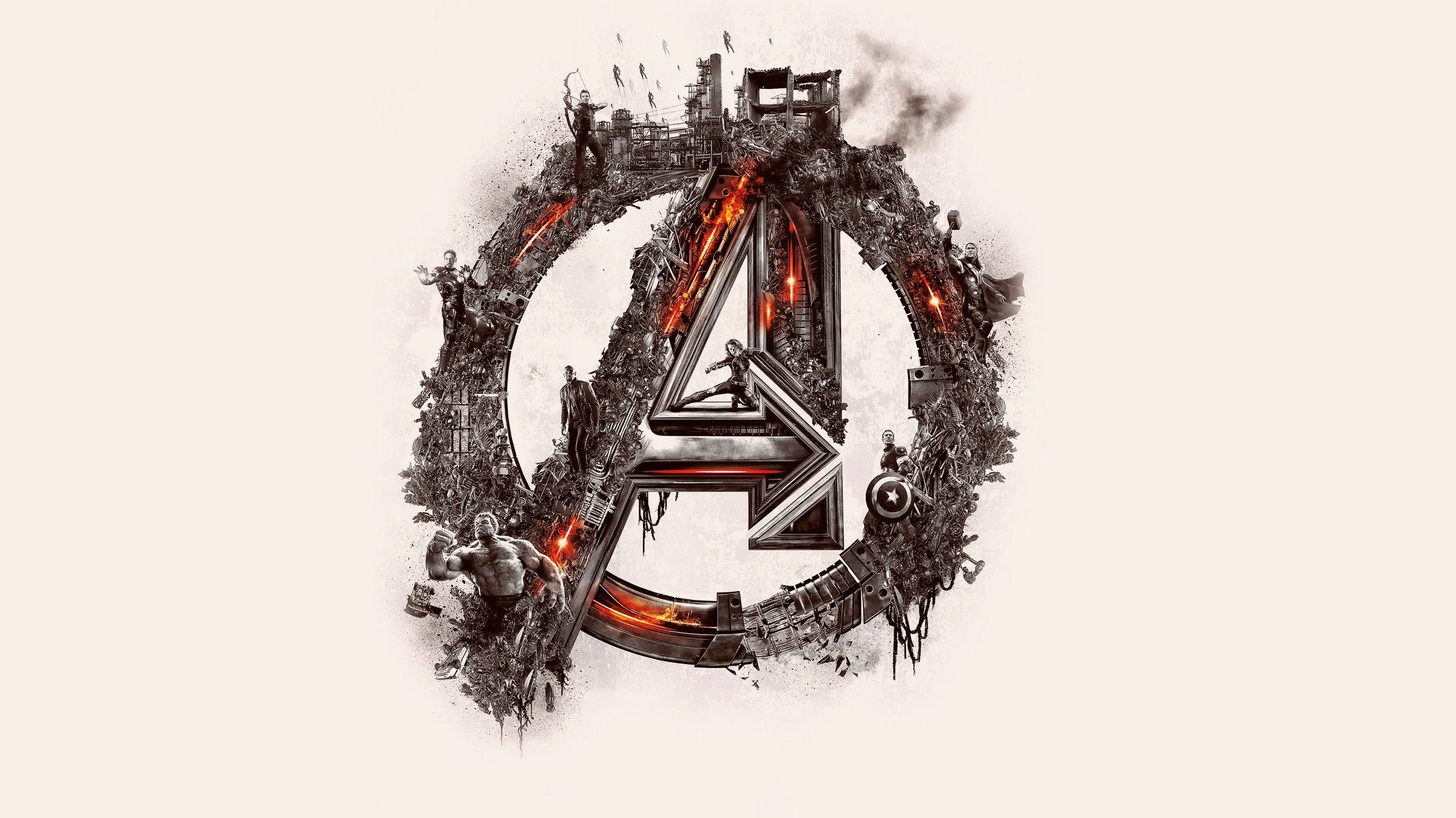 Avengers Logo Wallpaper 4k 2560x1440 Download Hd Wallpaper Wallpapertip
