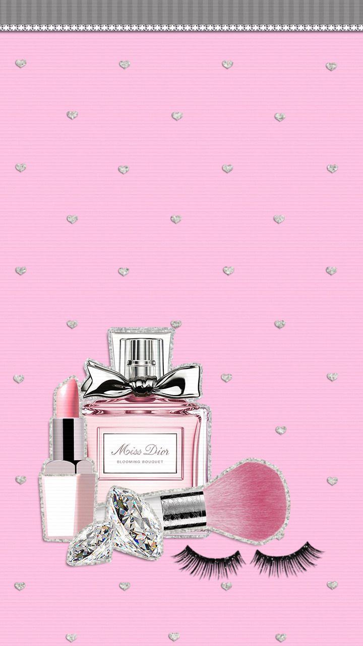 rosa Tapete Make up   süße Tumblr Wallpaper   20x20   WallpaperTip