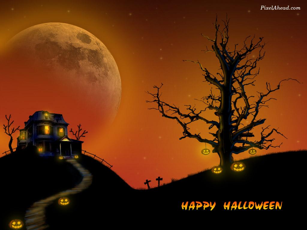 Halloween Live Wallpaper Free Download Halloween Live Halloween House Facebook Cover 1024x768 Download Hd Wallpaper Wallpapertip