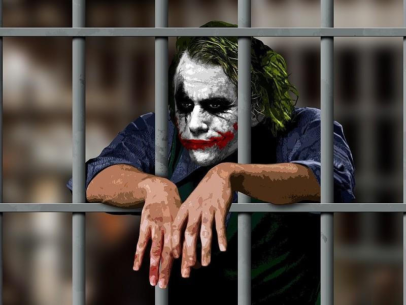 Joker In Jail Movie Scene Of Batman Hd Wallpapers Dark Knight Heath Ledger Joker 800x600 Download Hd Wallpaper Wallpapertip