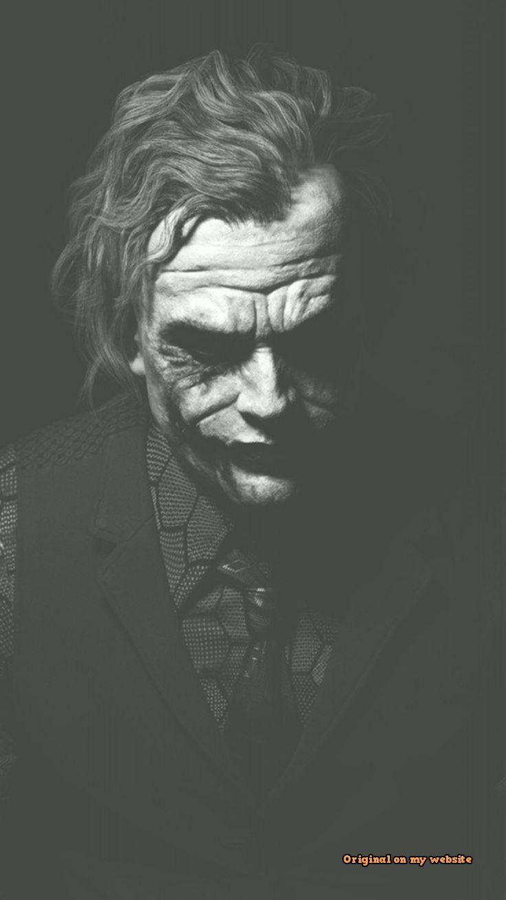 Heath Ledger Joker Monochrome Batman Deep Love Urdu Poetry 736x1308 Download Hd Wallpaper Wallpapertip