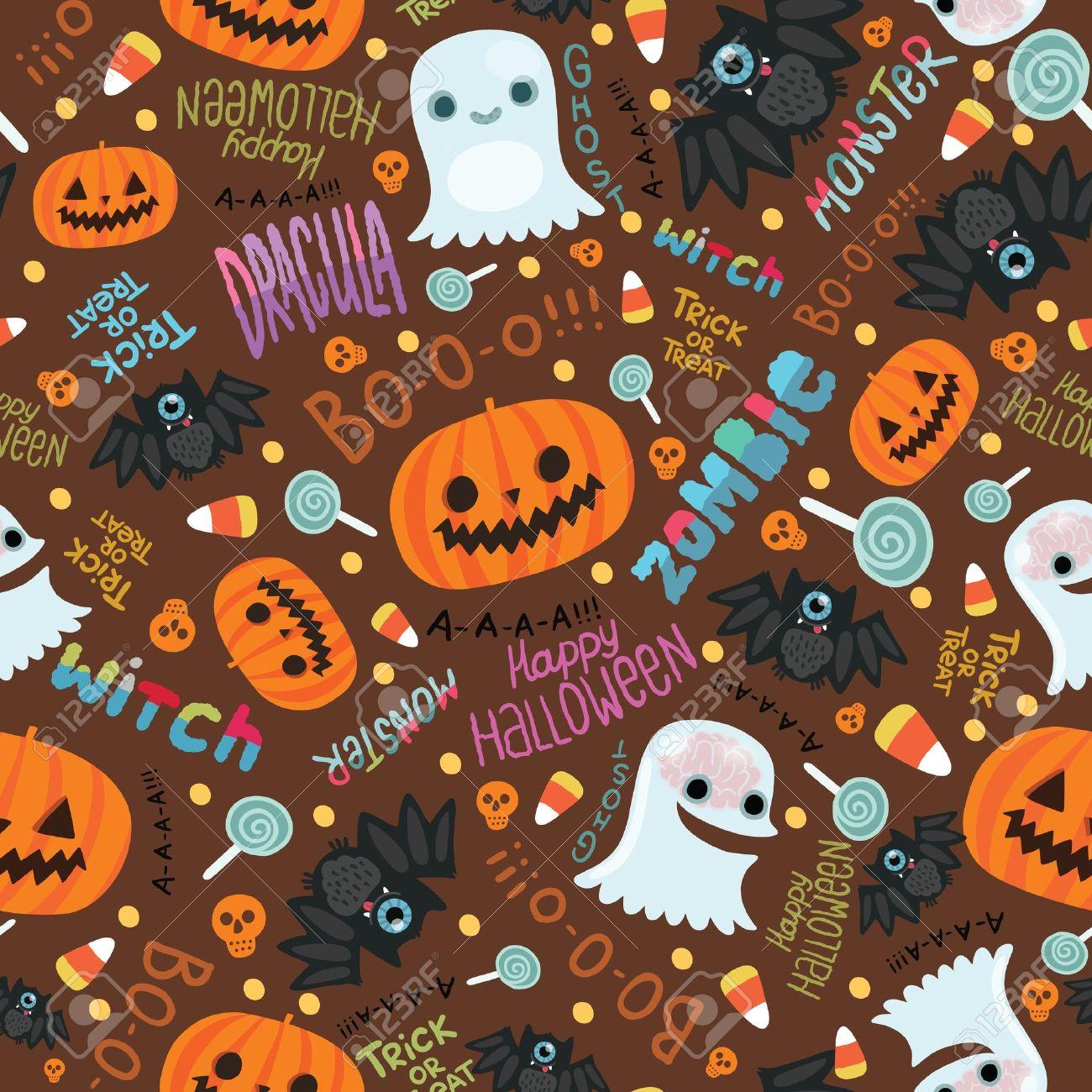 Halloween Pattern Wallpaper.Cute Halloween Pattern Background 1300x1300 Download Hd Wallpaper Wallpapertip