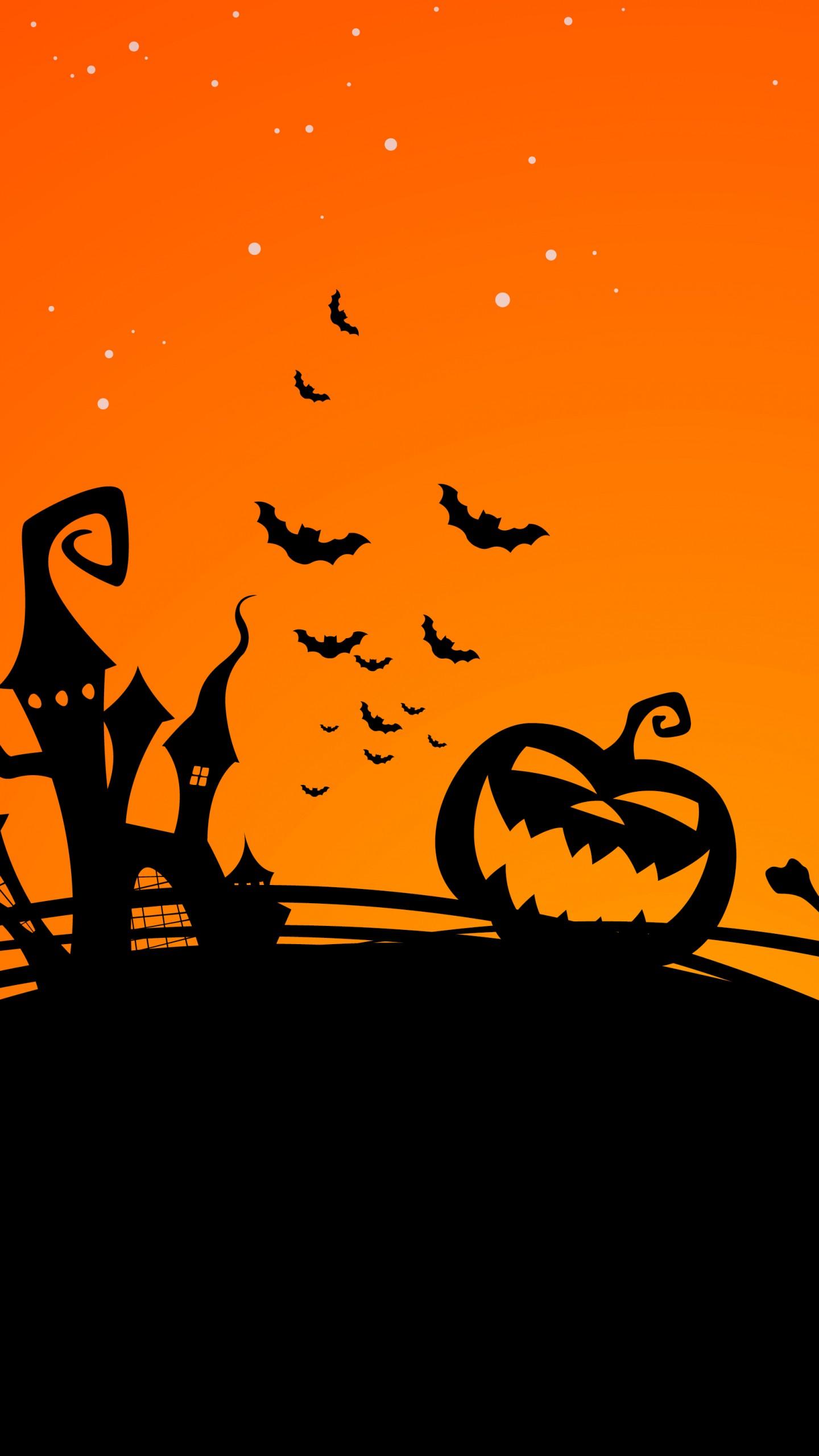 Halloween Pumpkin Wallpaper 1440x2560 Download Hd Wallpaper Wallpapertip