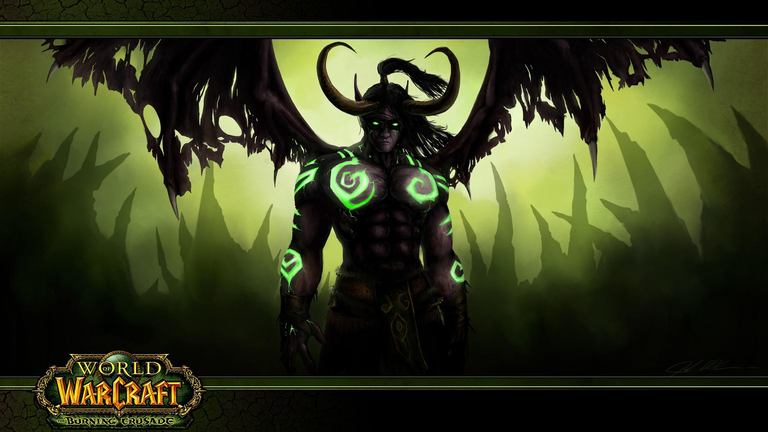 World Of Warcraft Legion Demon Hunter Draw Wallpaper 2560x1440 Download Hd Wallpaper Wallpapertip