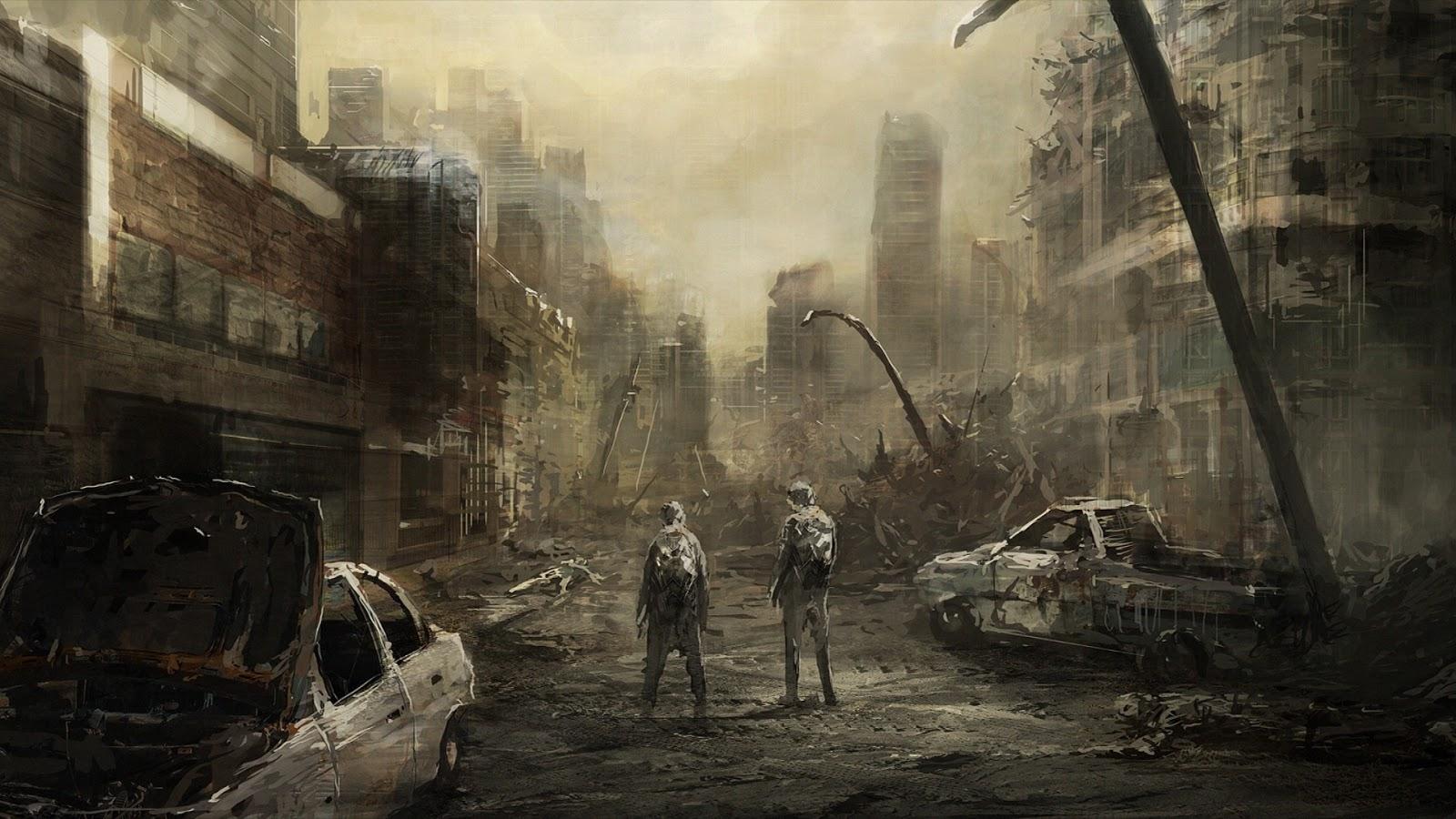 Post Apocalyptic Background - 1600x900 - Download HD Wallpaper -  WallpaperTip