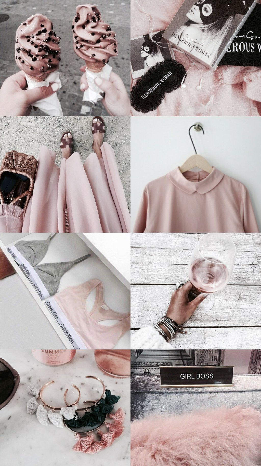 Aesthetic Rose Gold Collage 1024x1823 Download Hd Wallpaper Wallpapertip